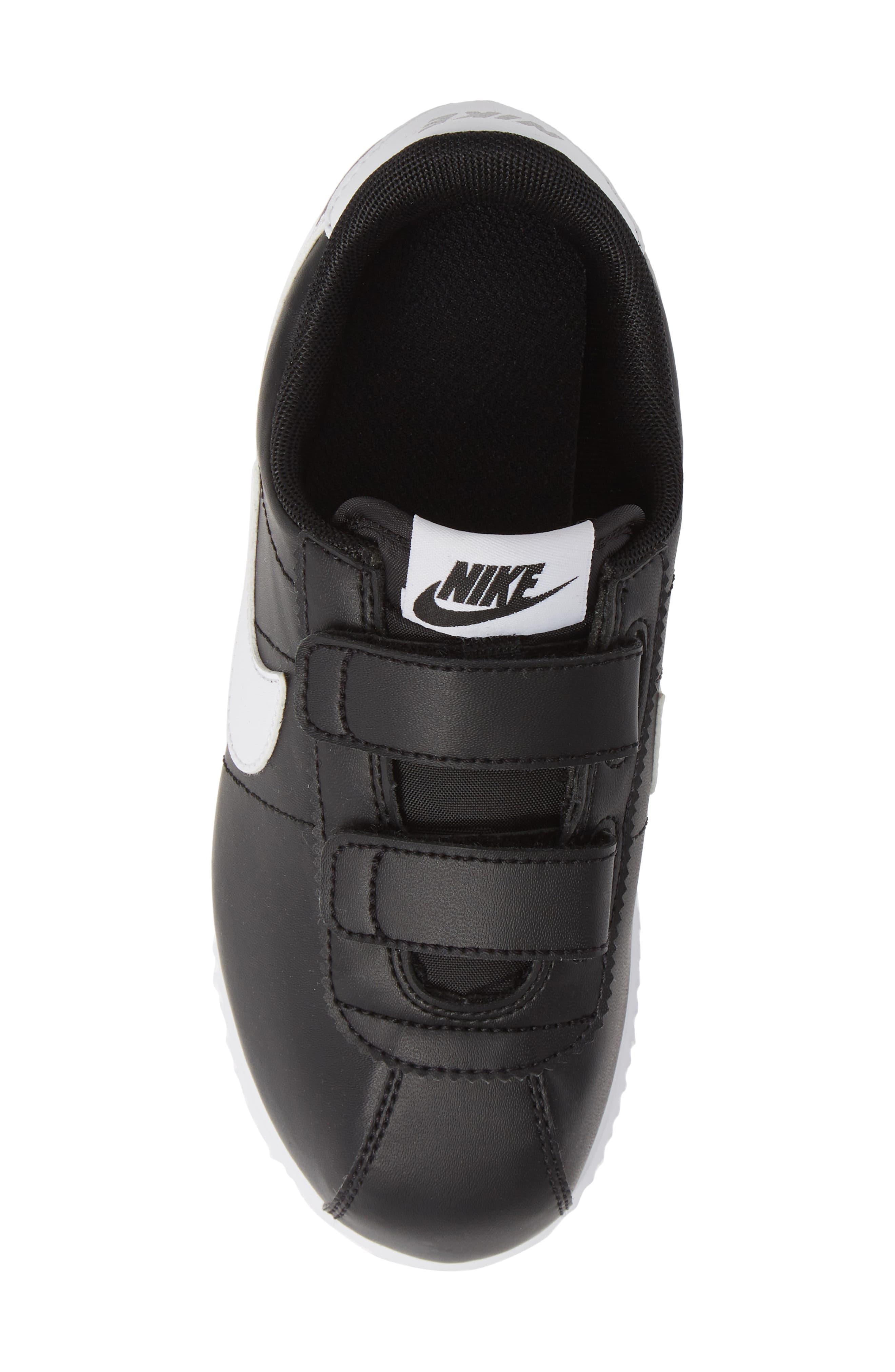 Cortez Basic SL Sneaker,                             Alternate thumbnail 6, color,                             Black/ White