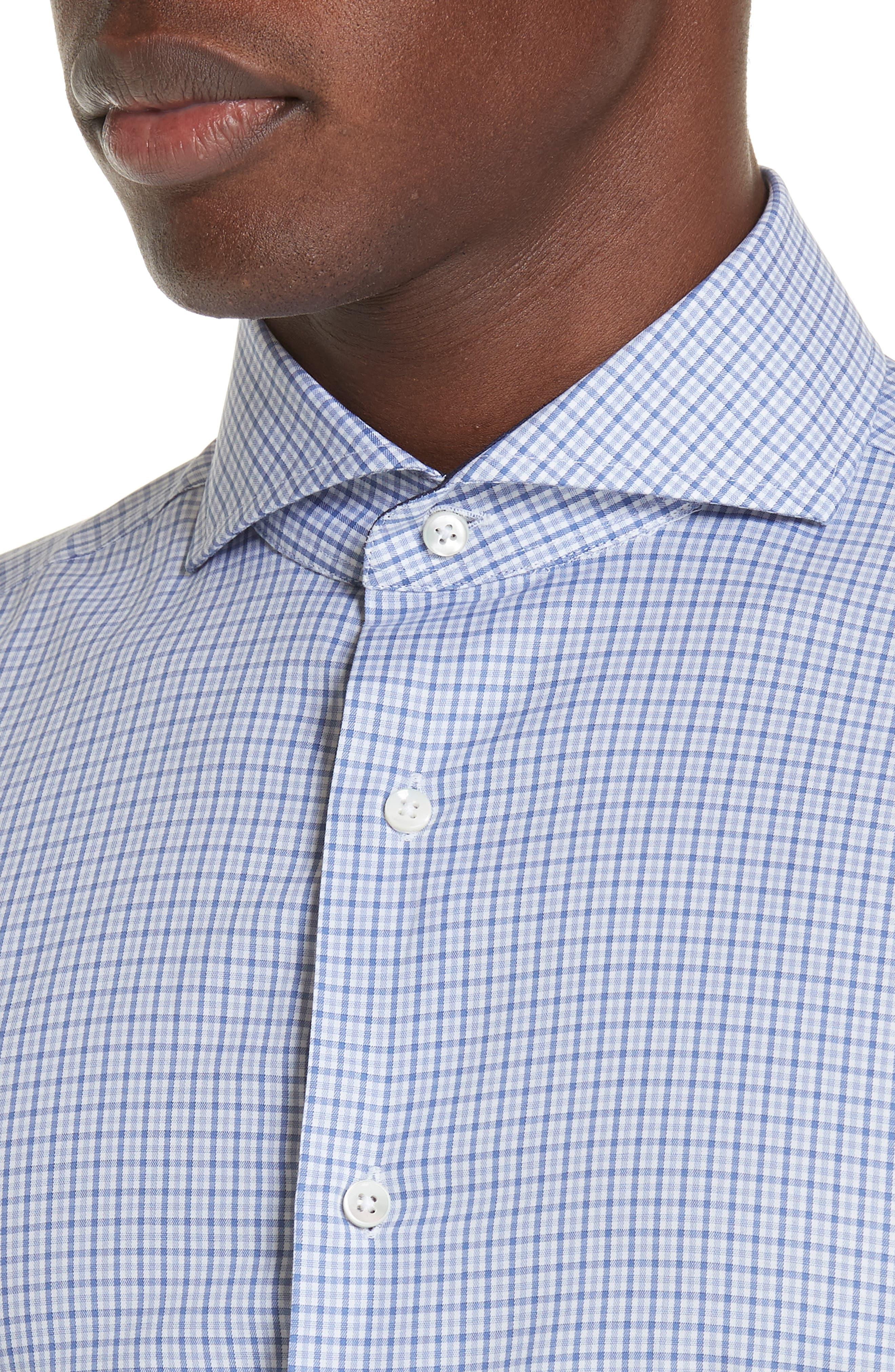 Regular Fit Check Dress Shirt,                             Alternate thumbnail 2, color,                             Medium Blue