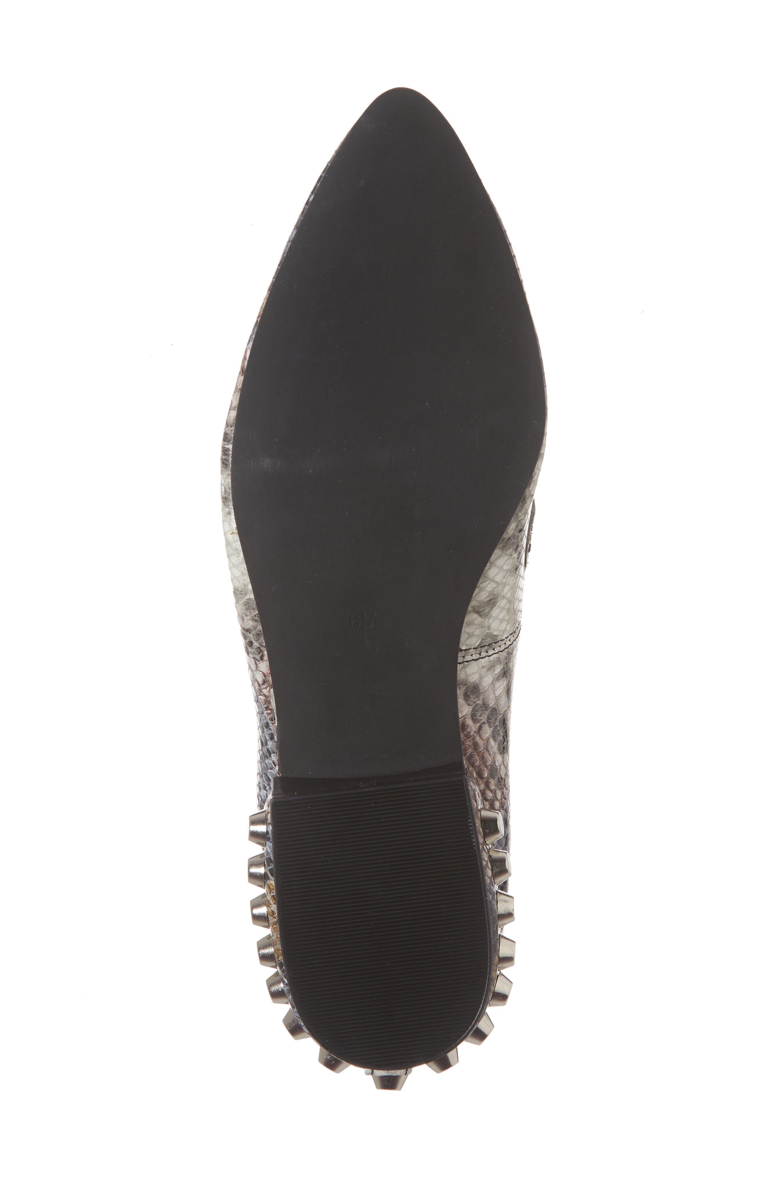 Barnett Studded Loafer,                             Alternate thumbnail 5, color,                             Multi Snake Silver