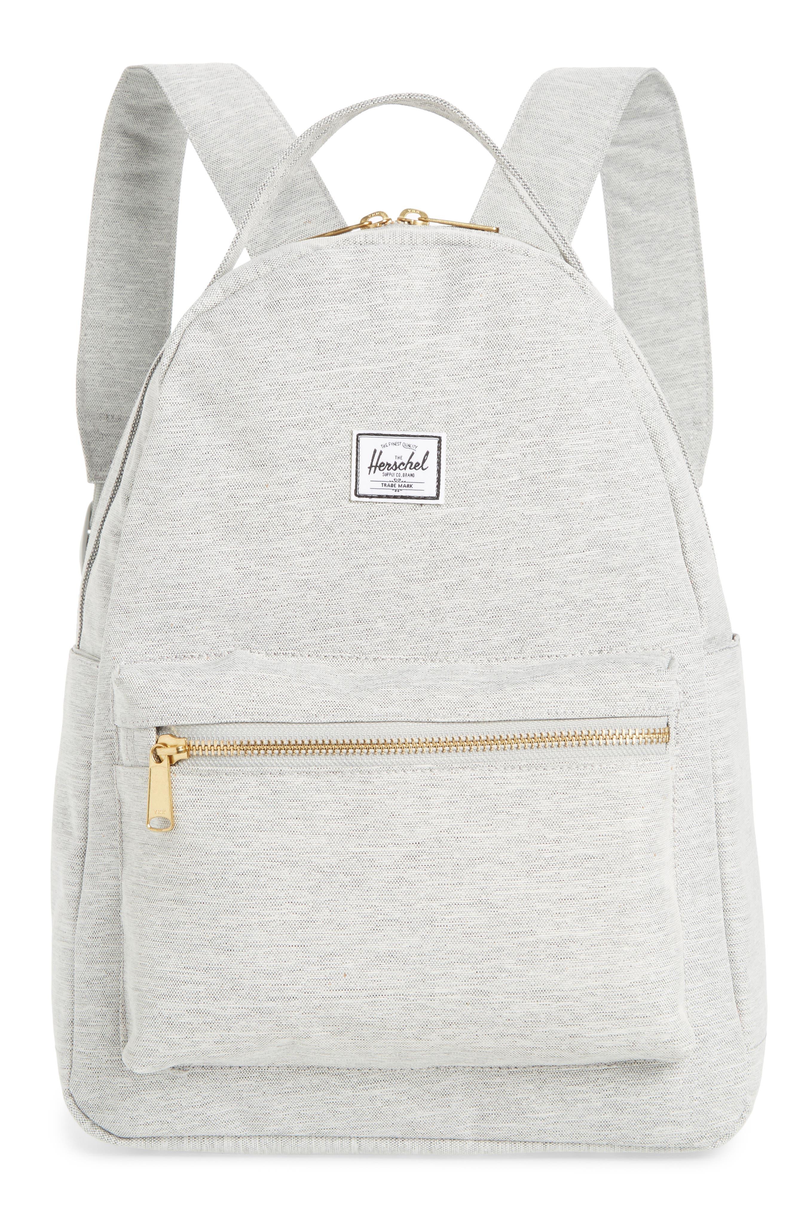 HERSCHEL SUPPLY CO. Nova Mid Volume Backpack - Grey in Light Grey Crosshatch