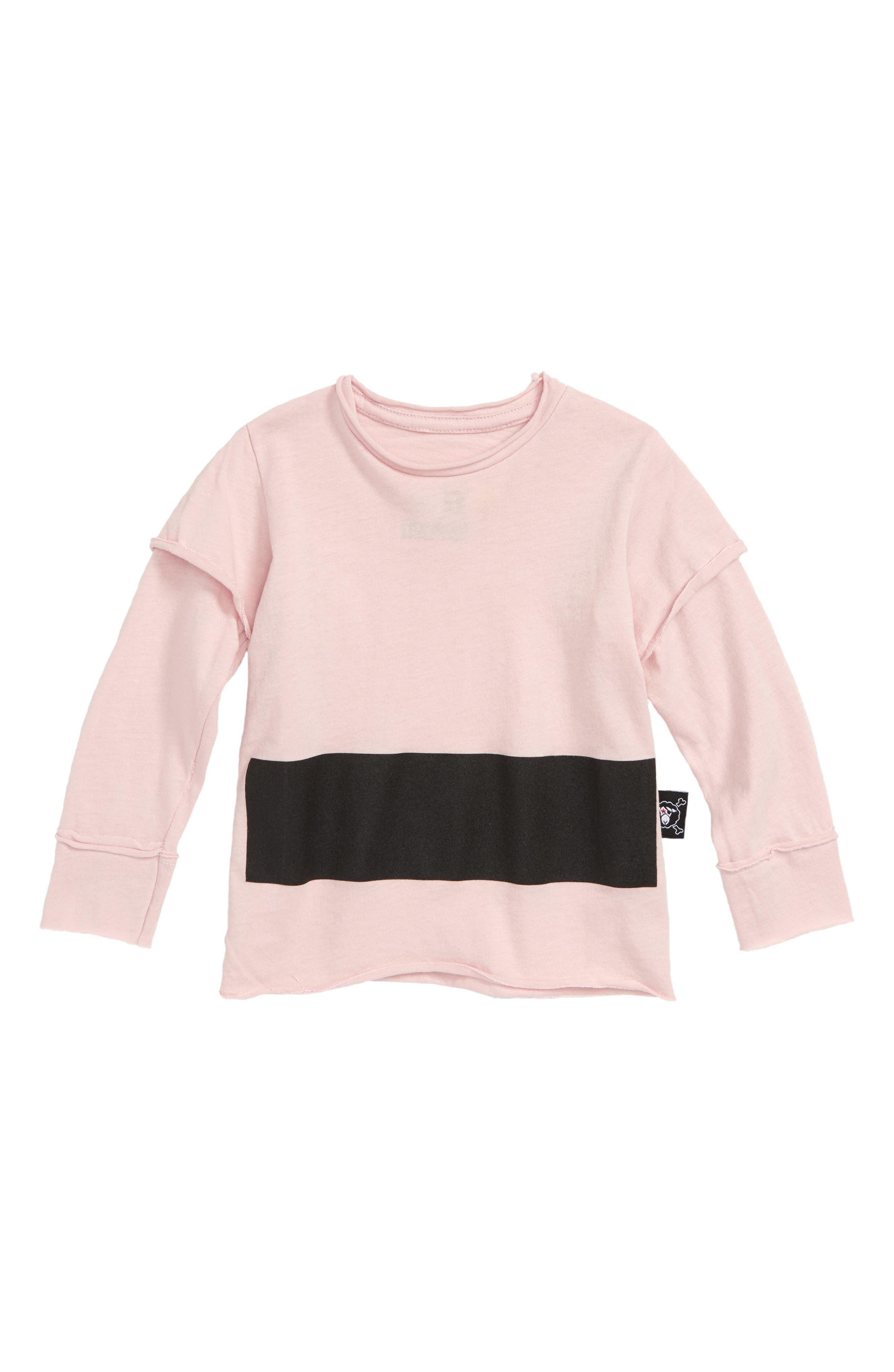 Stripe Tee,                             Main thumbnail 1, color,                             Powder Pink