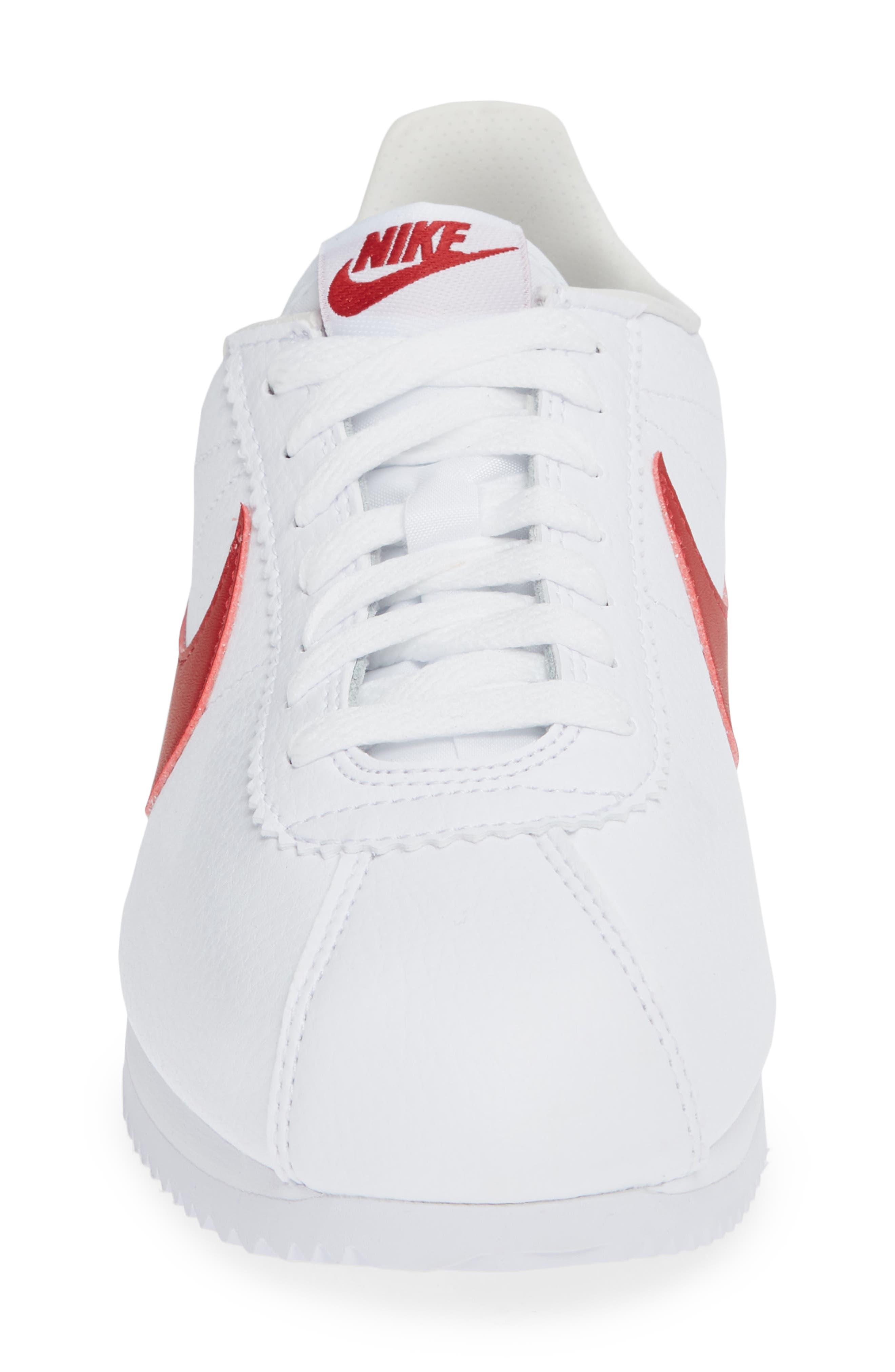 Classic Cortez Sneaker,                             Alternate thumbnail 3, color,                             White/ Varsity Red/ Royal