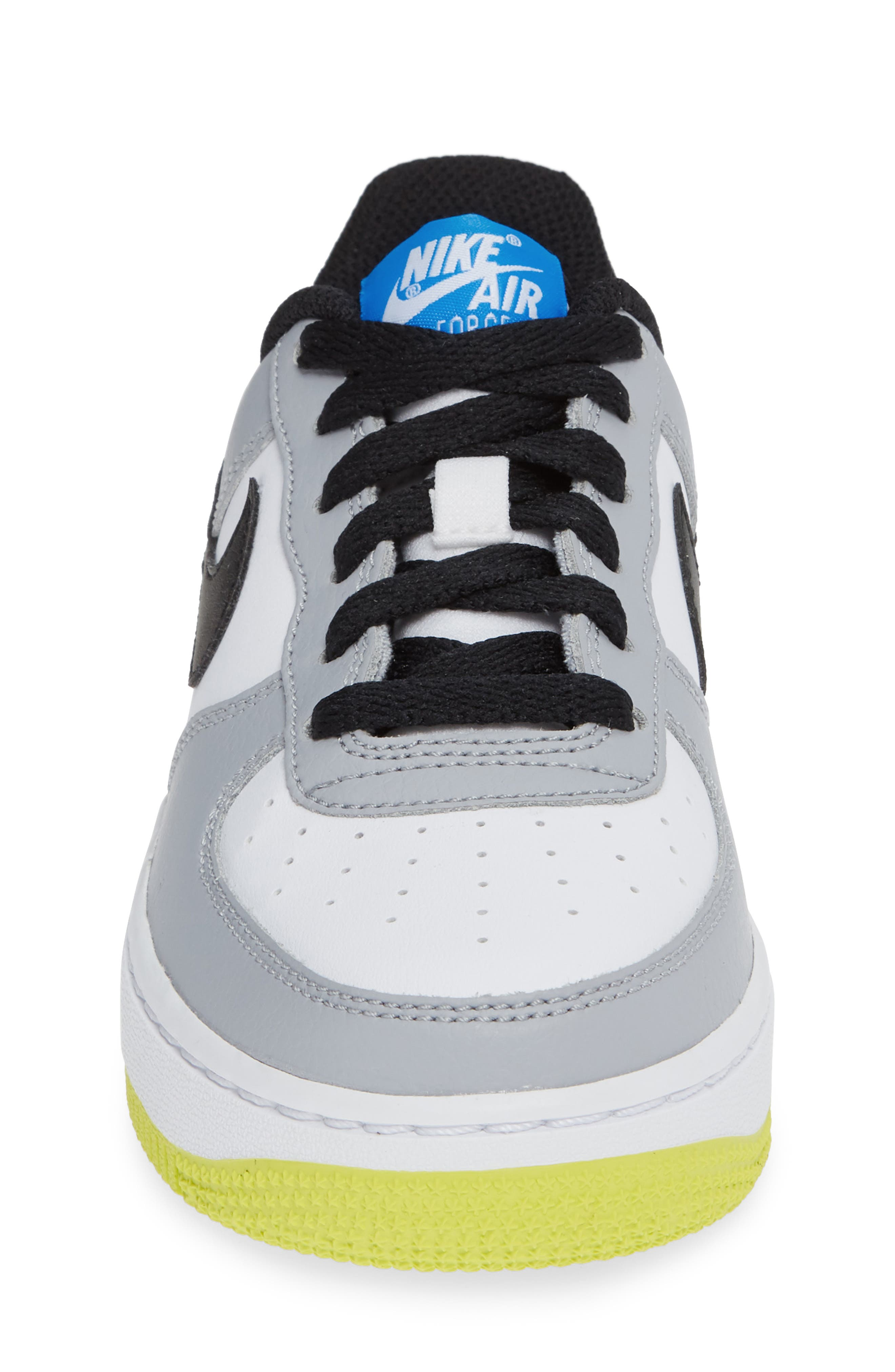 Air Force 1 Sneaker,                             Alternate thumbnail 5, color,                             Wolf Grey/ Black/ White/ Blue