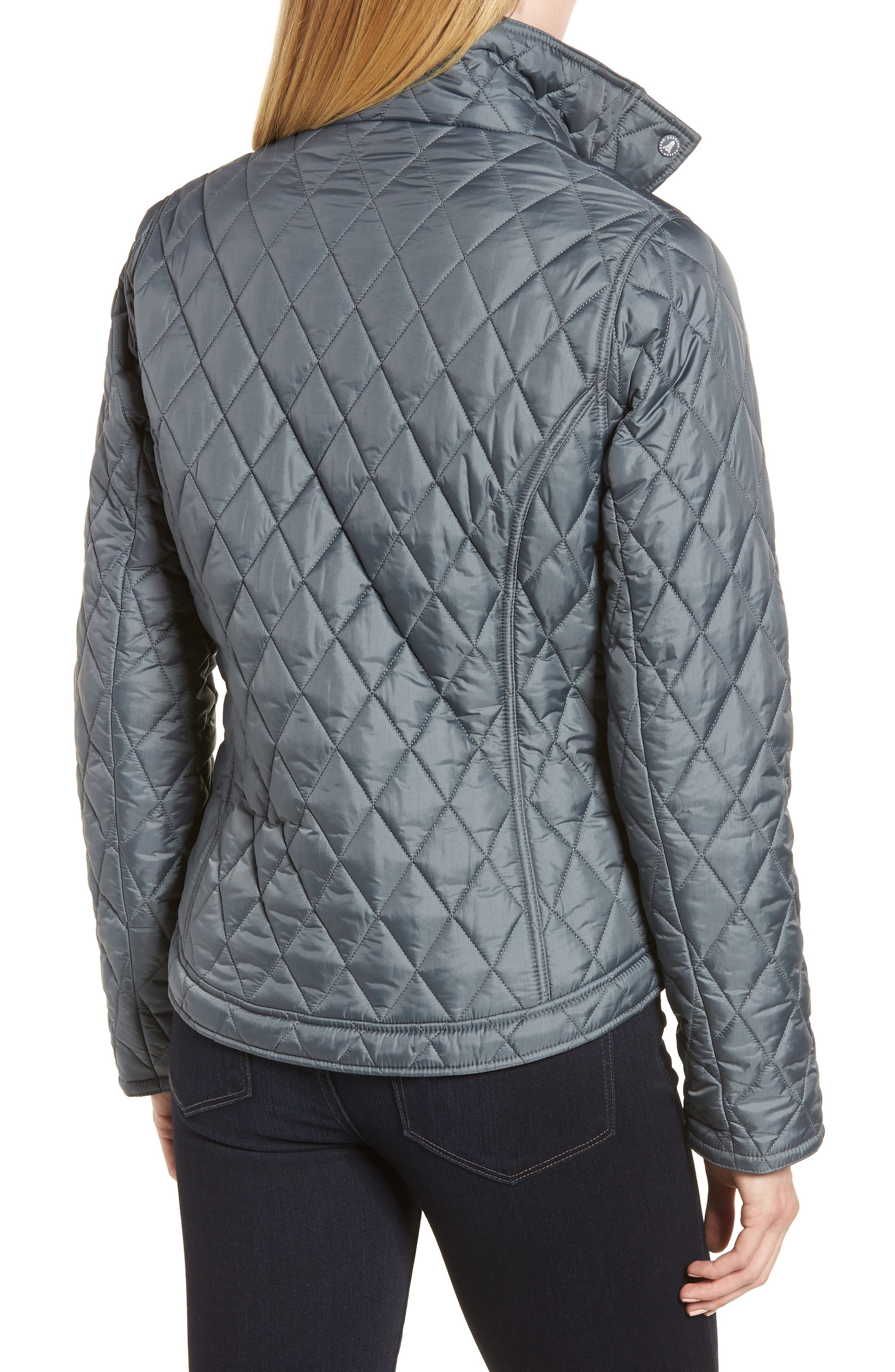 Fairway Quilted Jacket,                             Alternate thumbnail 2, color,                             Washed Charcoal