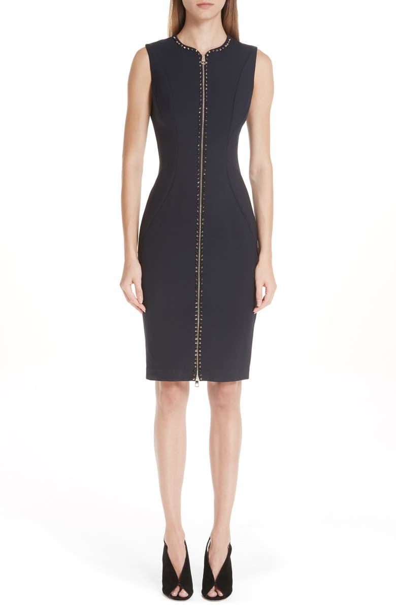 Studded Zip Front Dress
