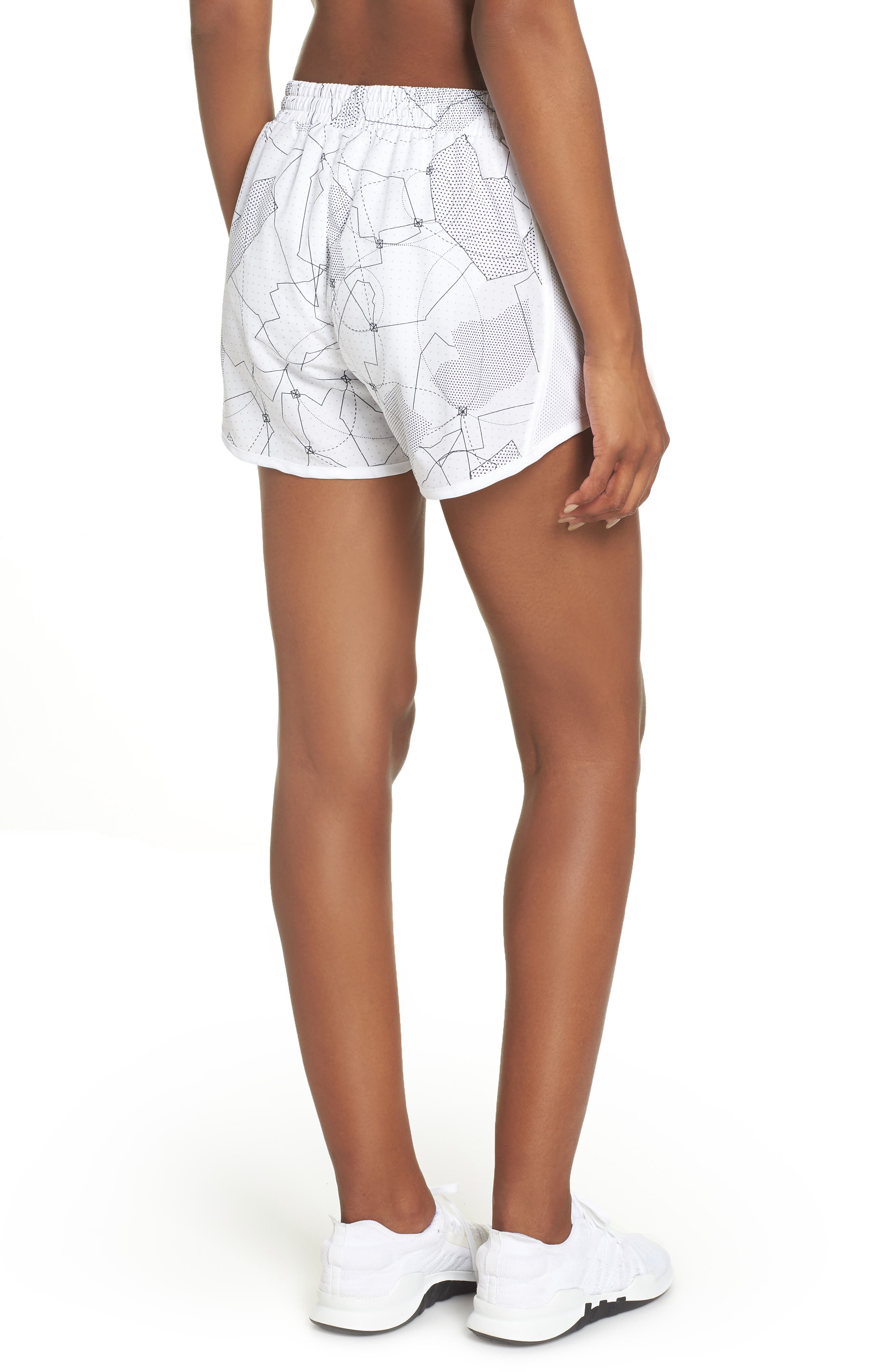 Fly-By Print Shorts,                             Alternate thumbnail 2, color,                             White/ White/ Reflective