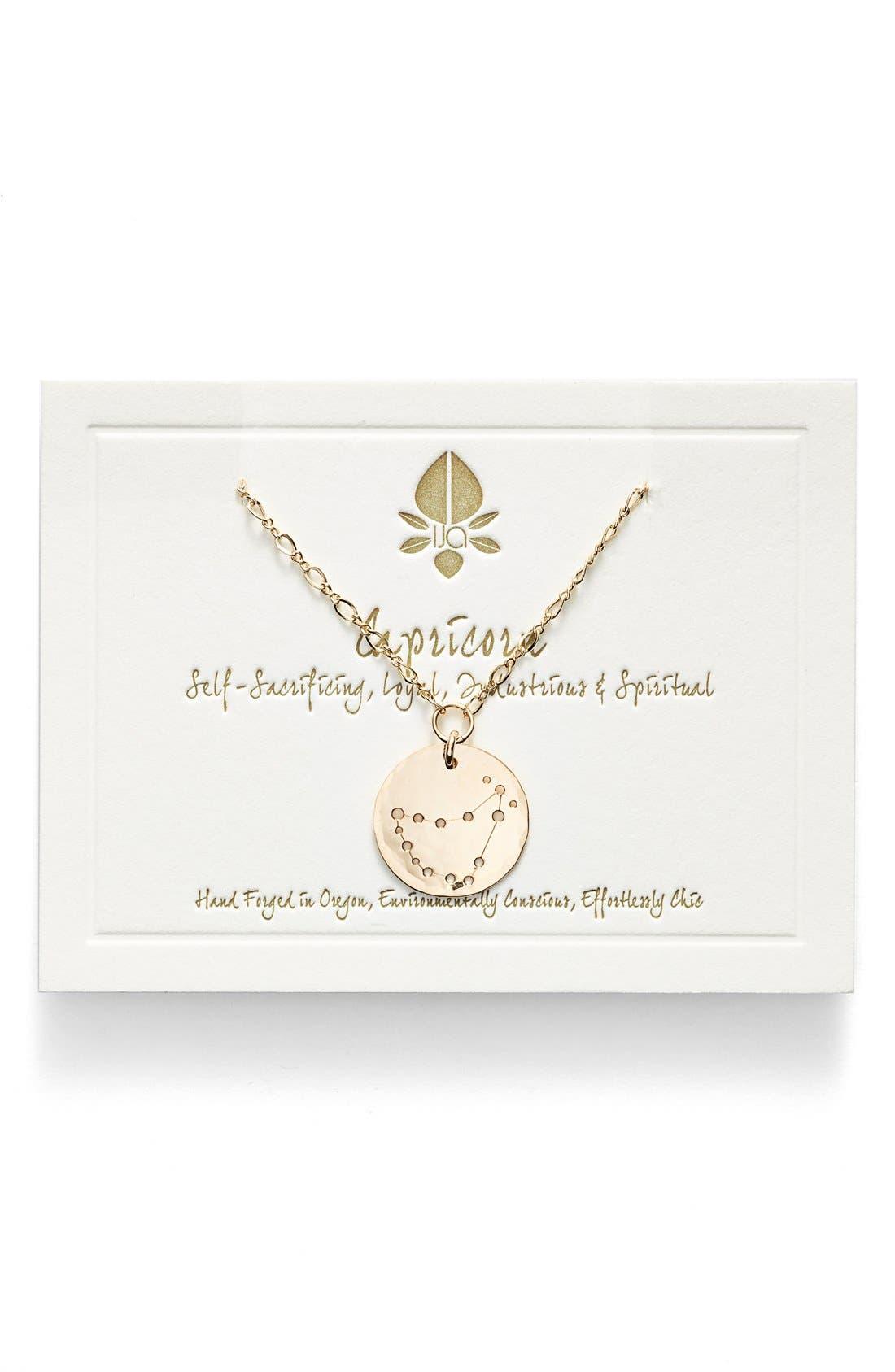 Ija 'Large Zodiac' 14k-Gold Fill Necklace,                             Main thumbnail 1, color,                             14K Gold Fill Capricorn