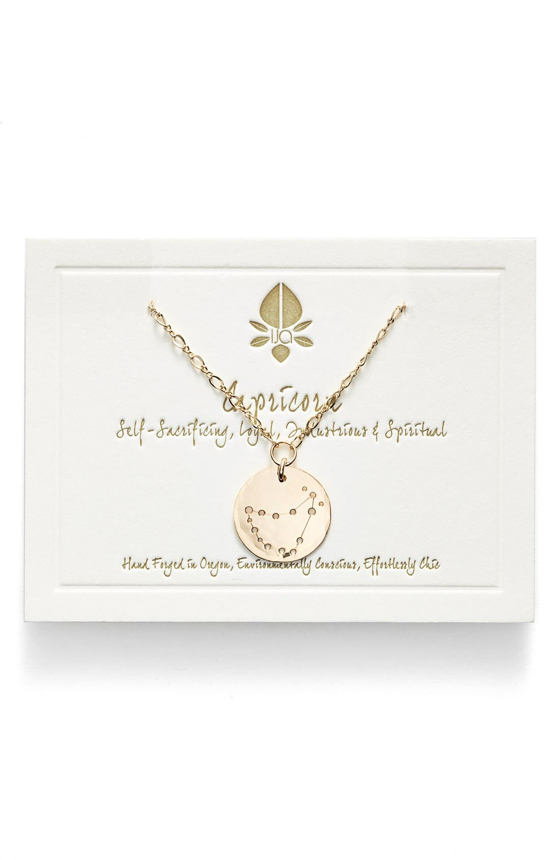 Ija 'Large Zodiac' 14k-Gold Fill Necklace,                         Main,                         color, 14K Gold Fill Capricorn