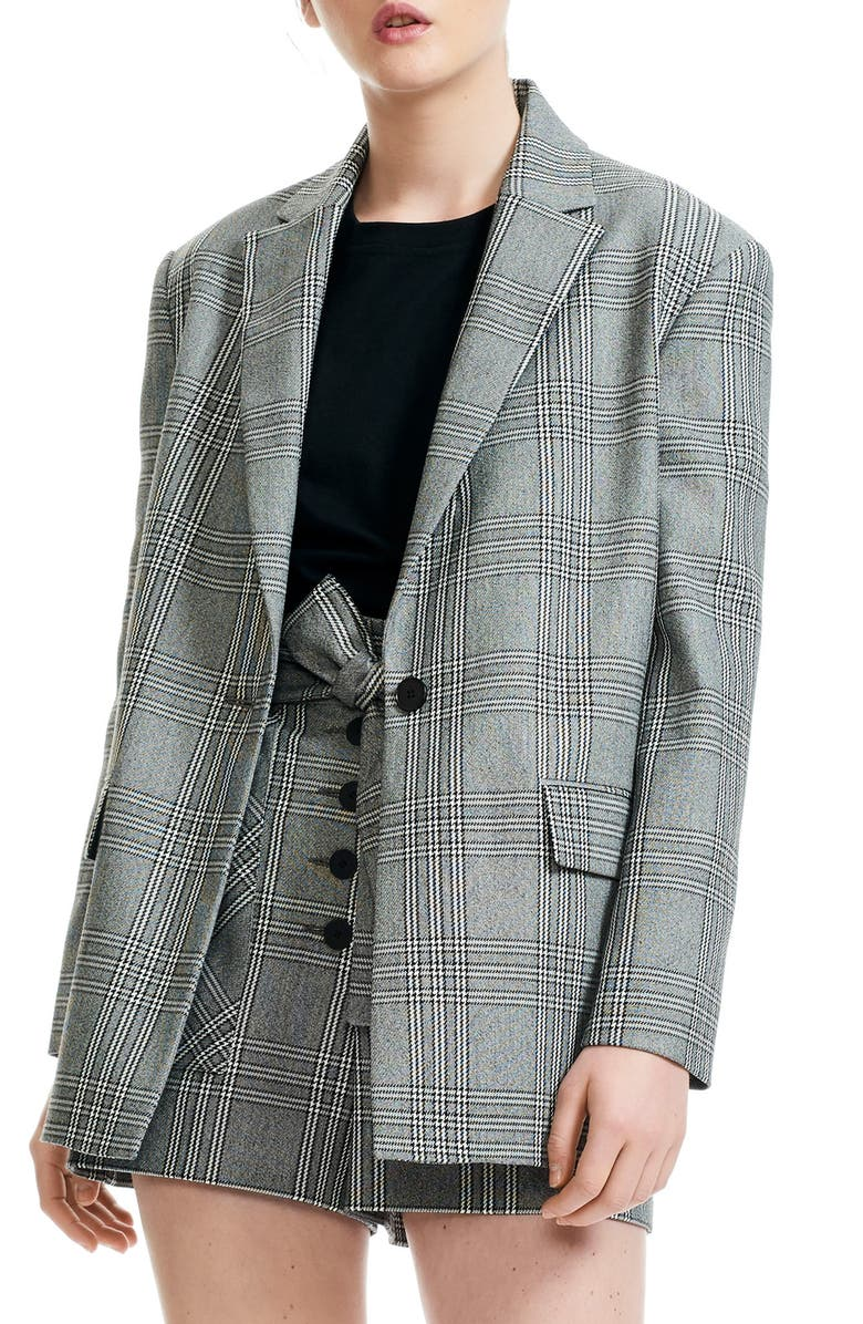 Vaime Plaid Blazer