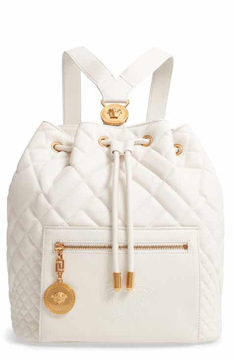827695d287c9 Versace Quilted Leather Drawstring Backpack.  1