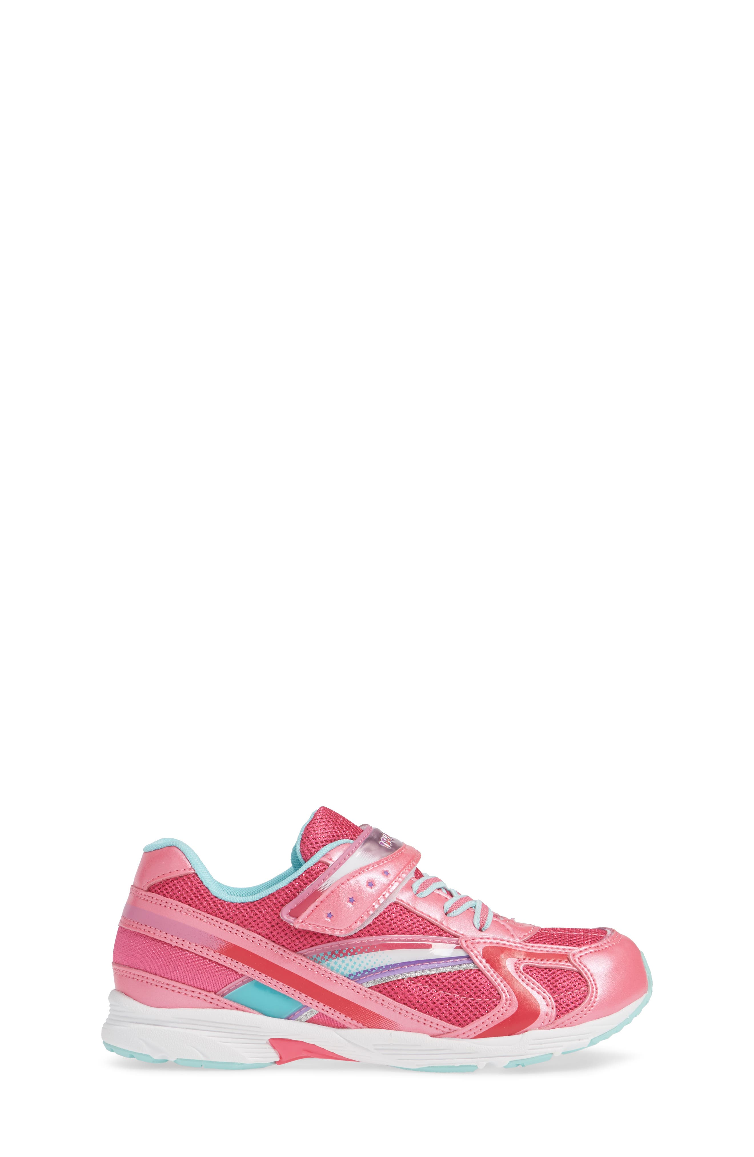 Glitz Washable Sneaker,                             Alternate thumbnail 5, color,                             Hot Pink/ Mint
