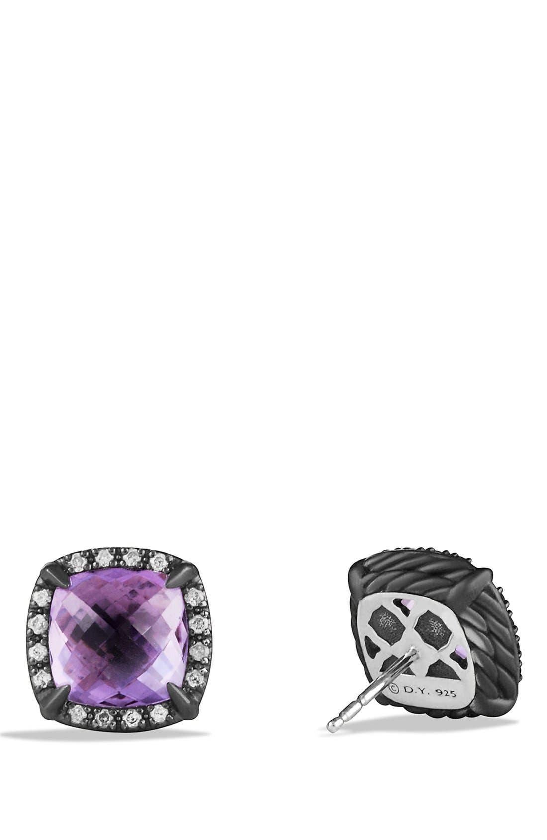 Alternate Image 2  - David Yurman 'Châtelaine' Earrings with Semiprecious Stone and Diamonds