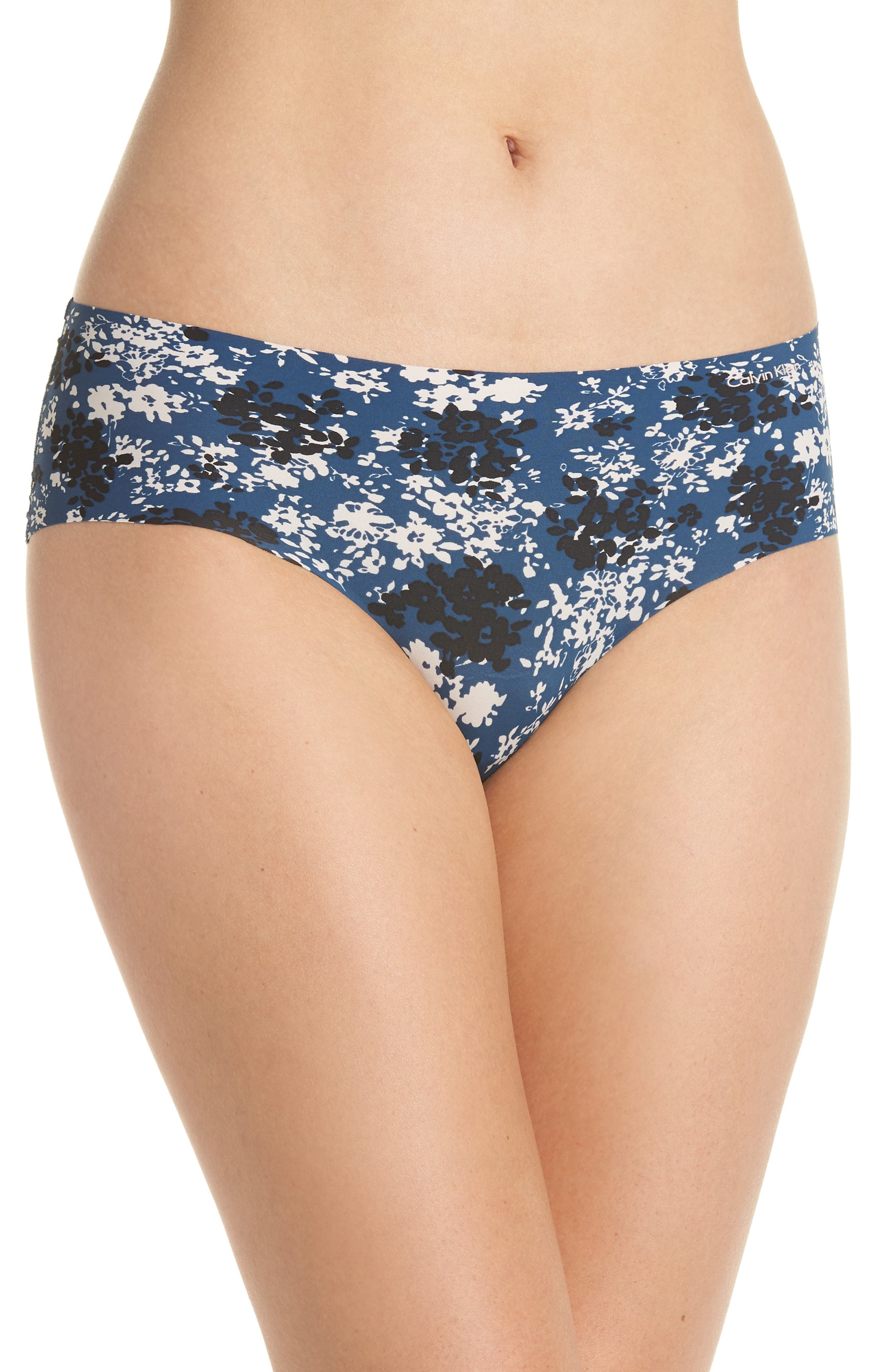 Invisibles Hipster Briefs,                             Main thumbnail 1, color,                             Simple Floral/ Lyria Blue