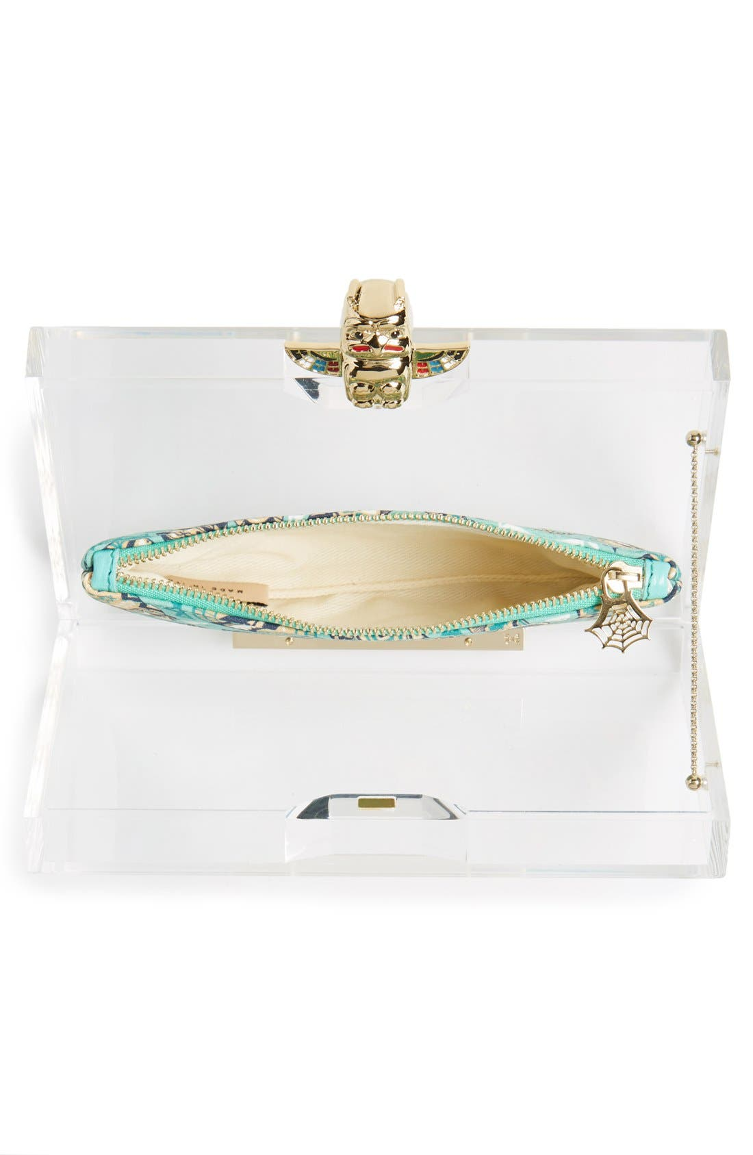 Alternate Image 4  - Charlotte Olympia 'Pandora' Clutch with Zip Pouches