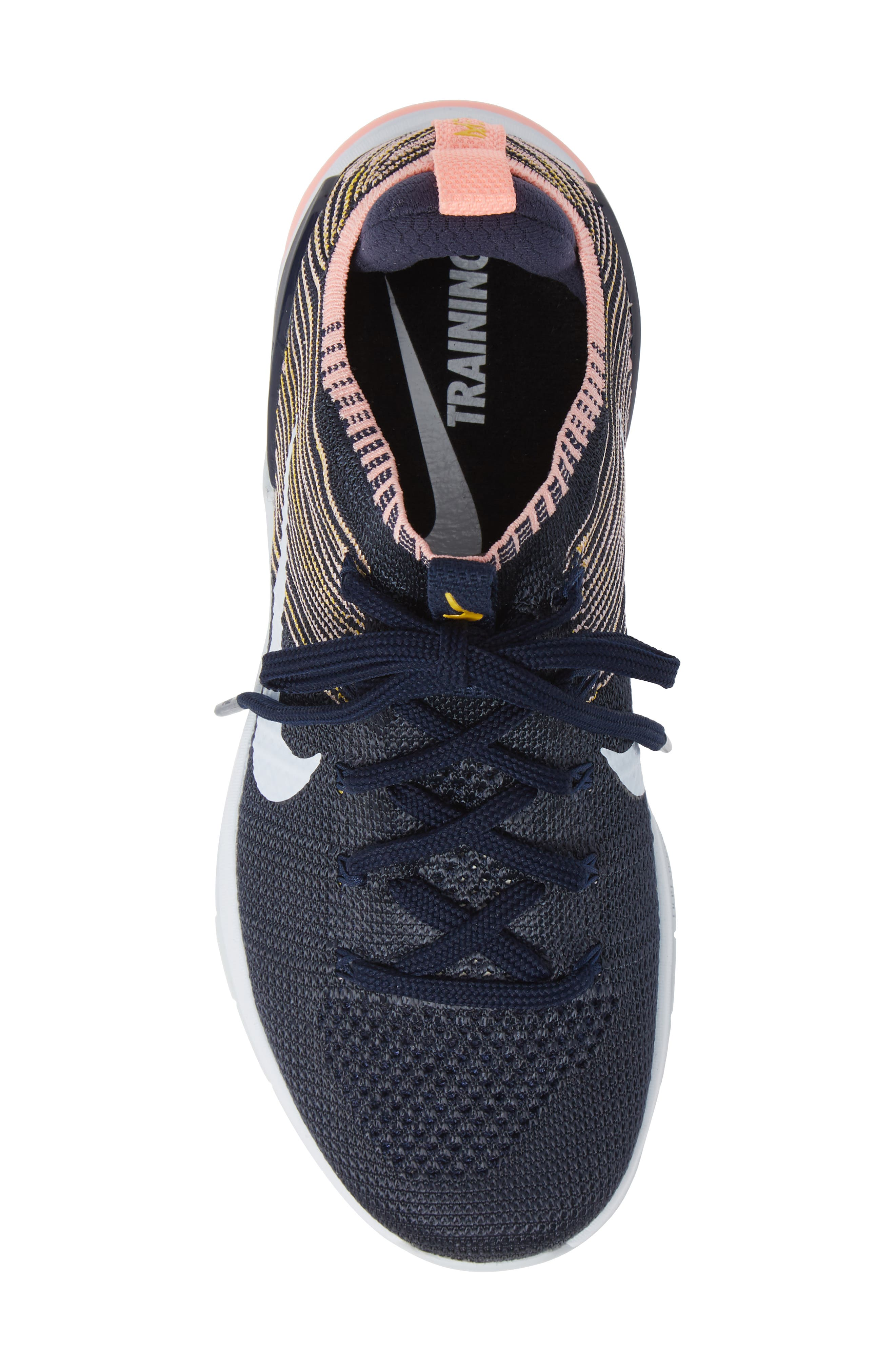 Metcon DSX Flyknit 2 Training Shoe,                             Alternate thumbnail 5, color,                             College Navy/ Blue Tint/ Pink