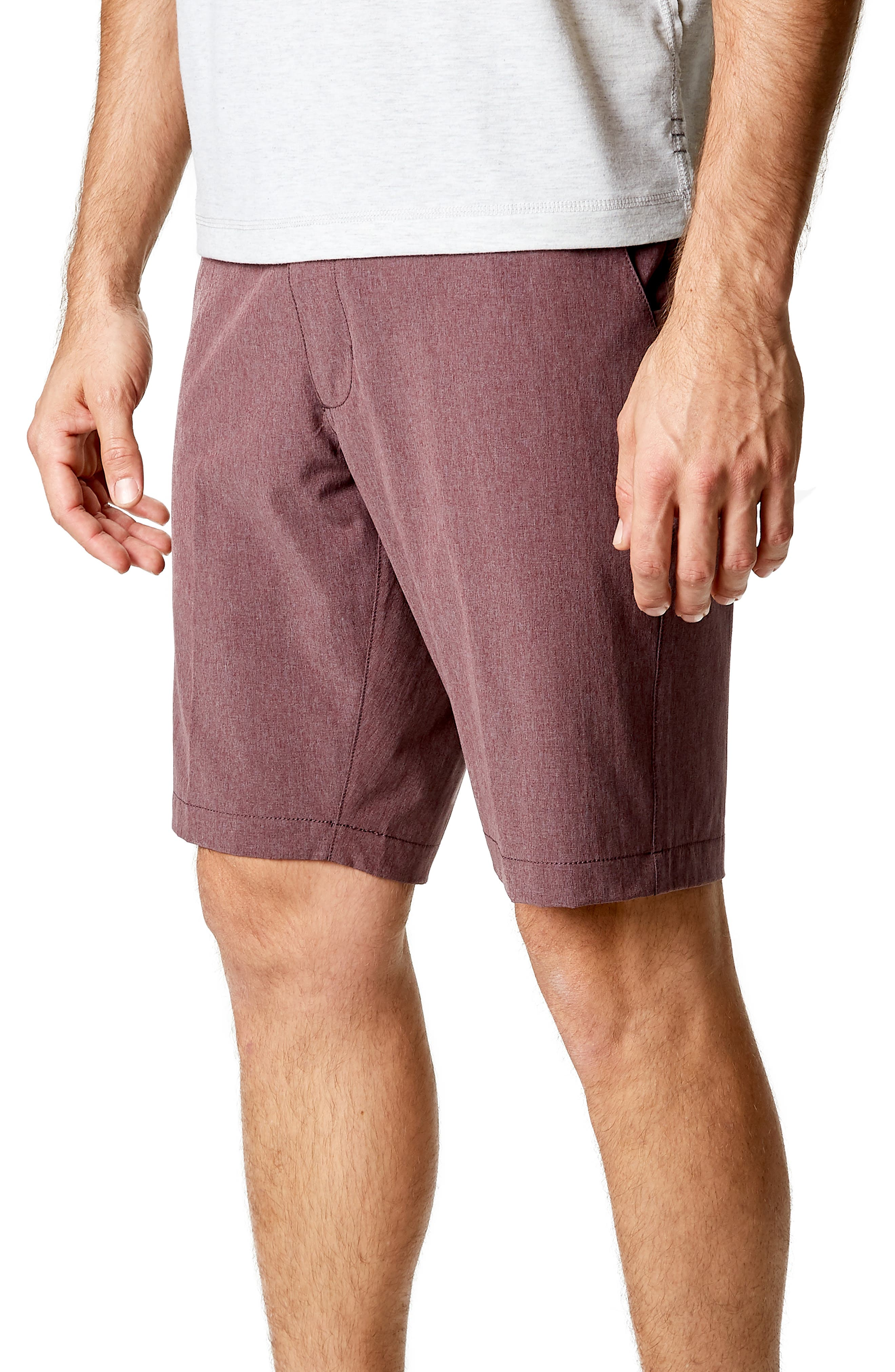 Adrenaline Stretch Shorts,                             Alternate thumbnail 3, color,                             Berry