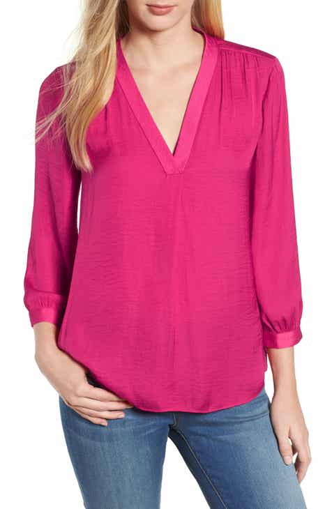 3c937873303 Vince Camuto Rumple Fabric Blouse