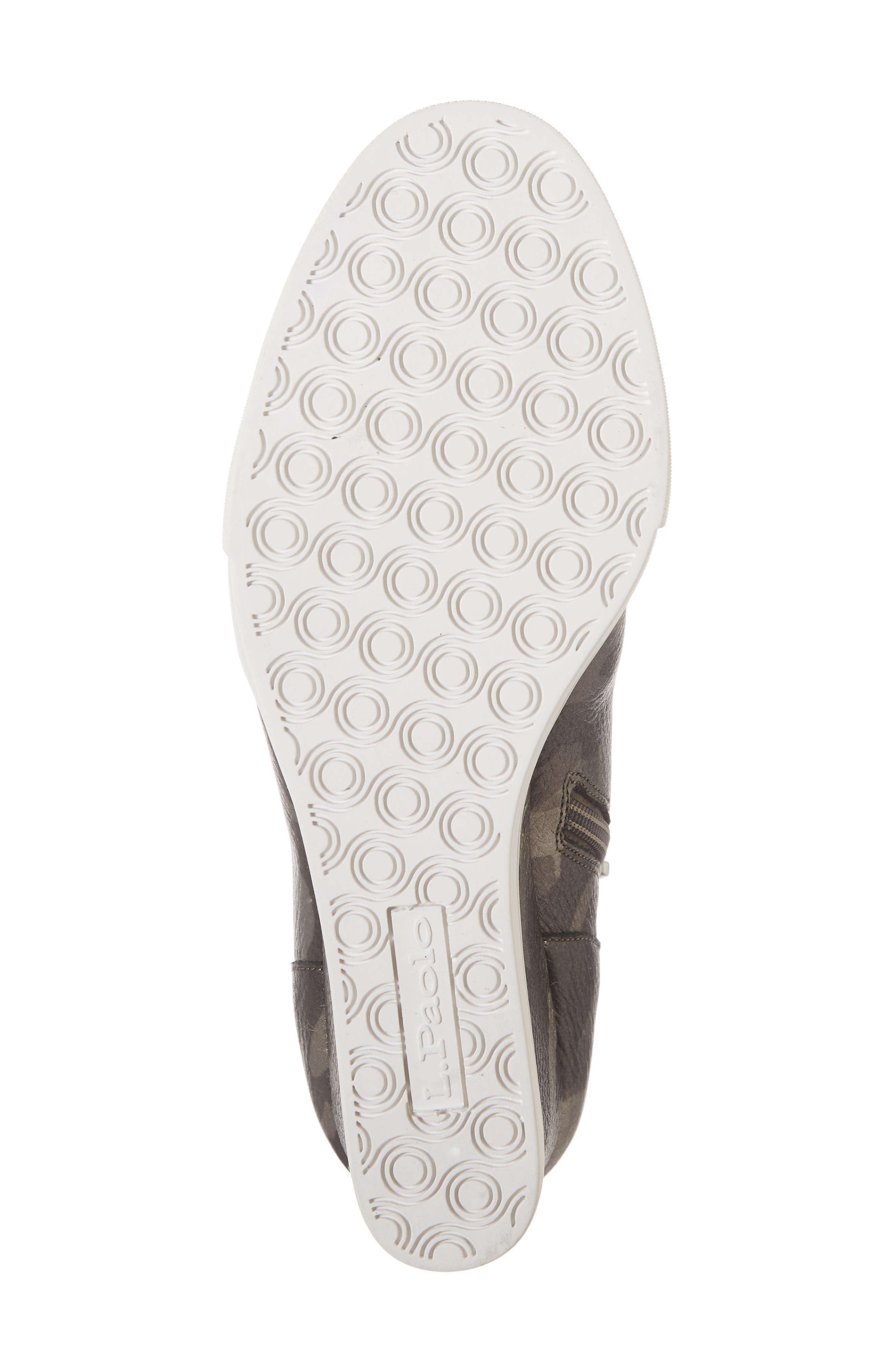 'Felicia' Wedge Bootie,                             Alternate thumbnail 3, color,                             Dark Grey Print Leather