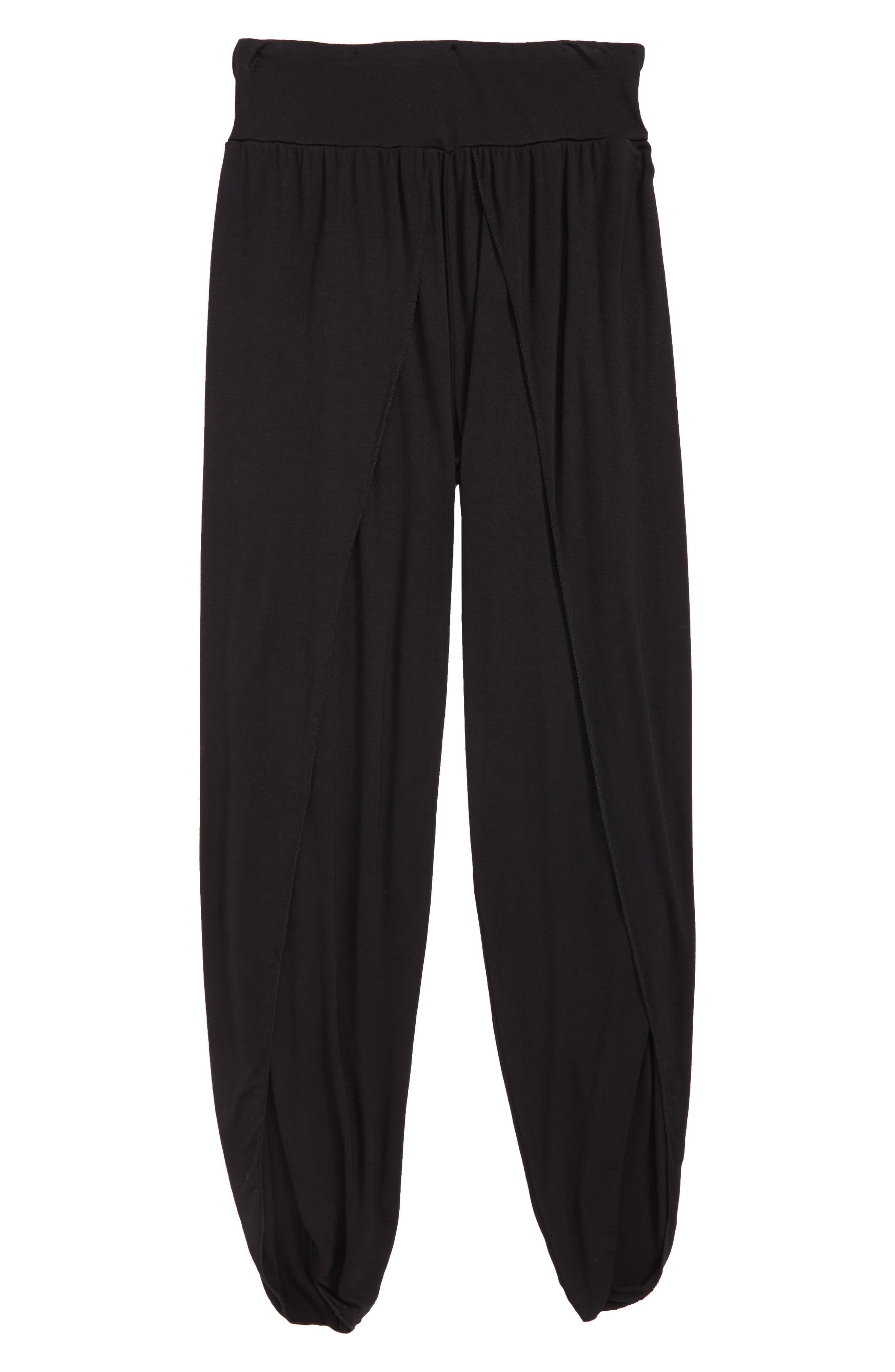 Briana Flutter Pants,                         Main,                         color, Black