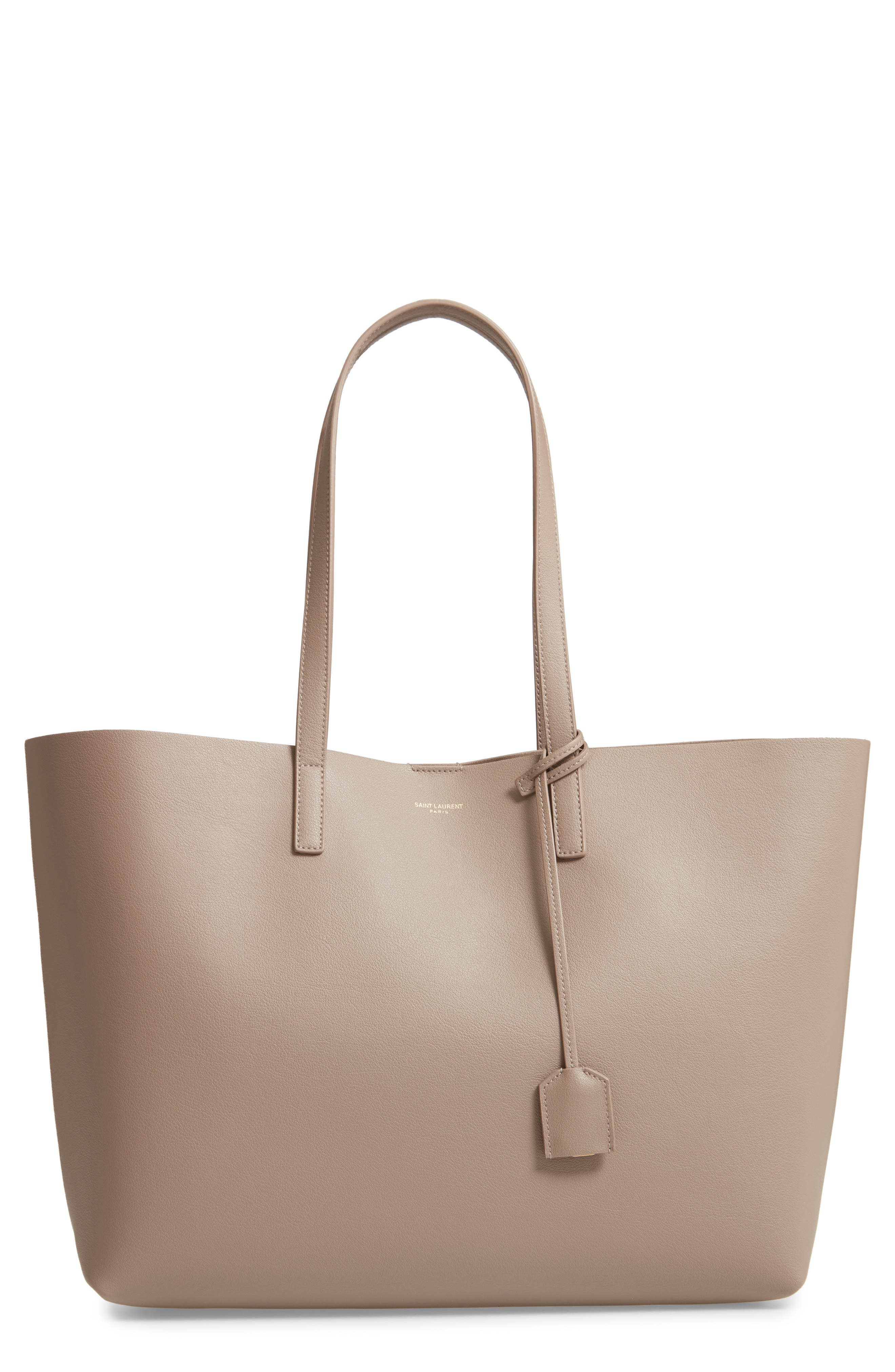 'Shopping' Leather Tote,                             Main thumbnail 1, color,                             Mink