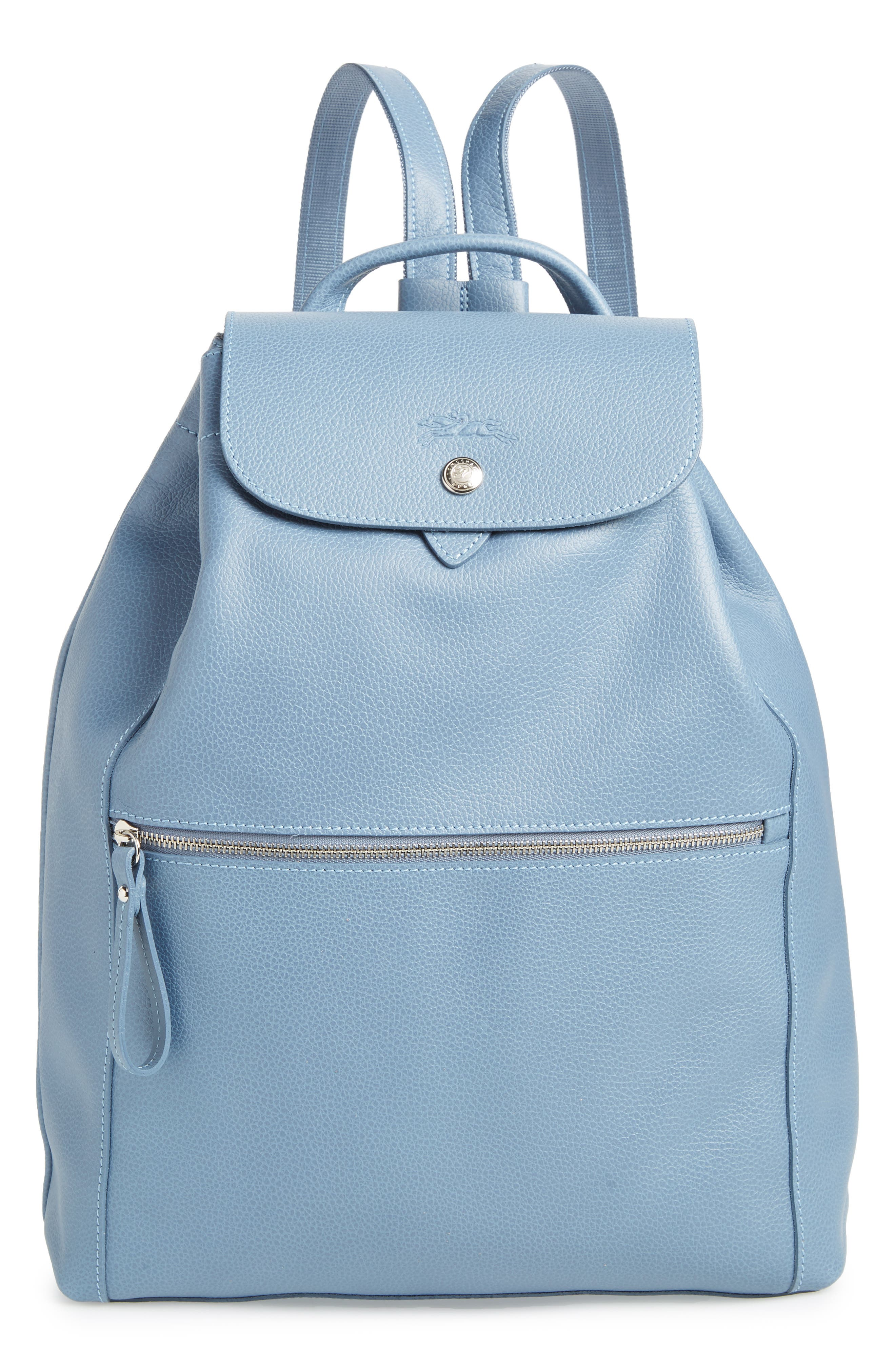 LEATHER BACKPACK - BLUE