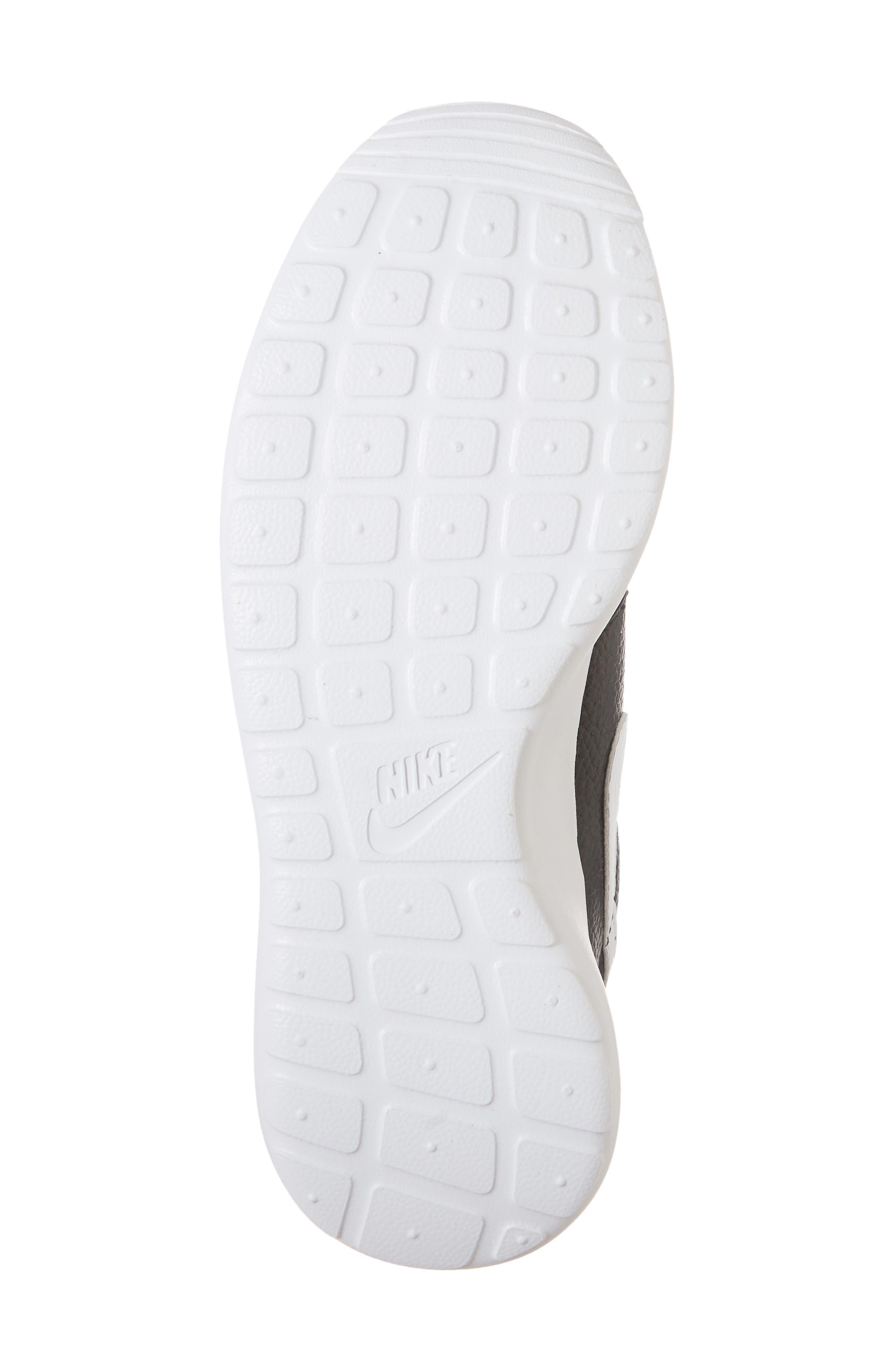 'Roshe Run' Print Sneaker,                             Alternate thumbnail 6, color,                             Black/ White/ Total Orange