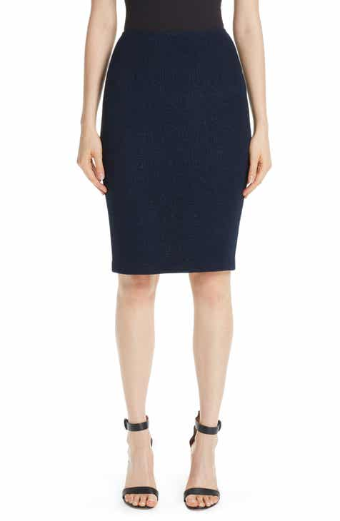 St. John Collection Metallic Ottoman Wave Knit Pencil Skirt by ST. JOHN COLLECTION