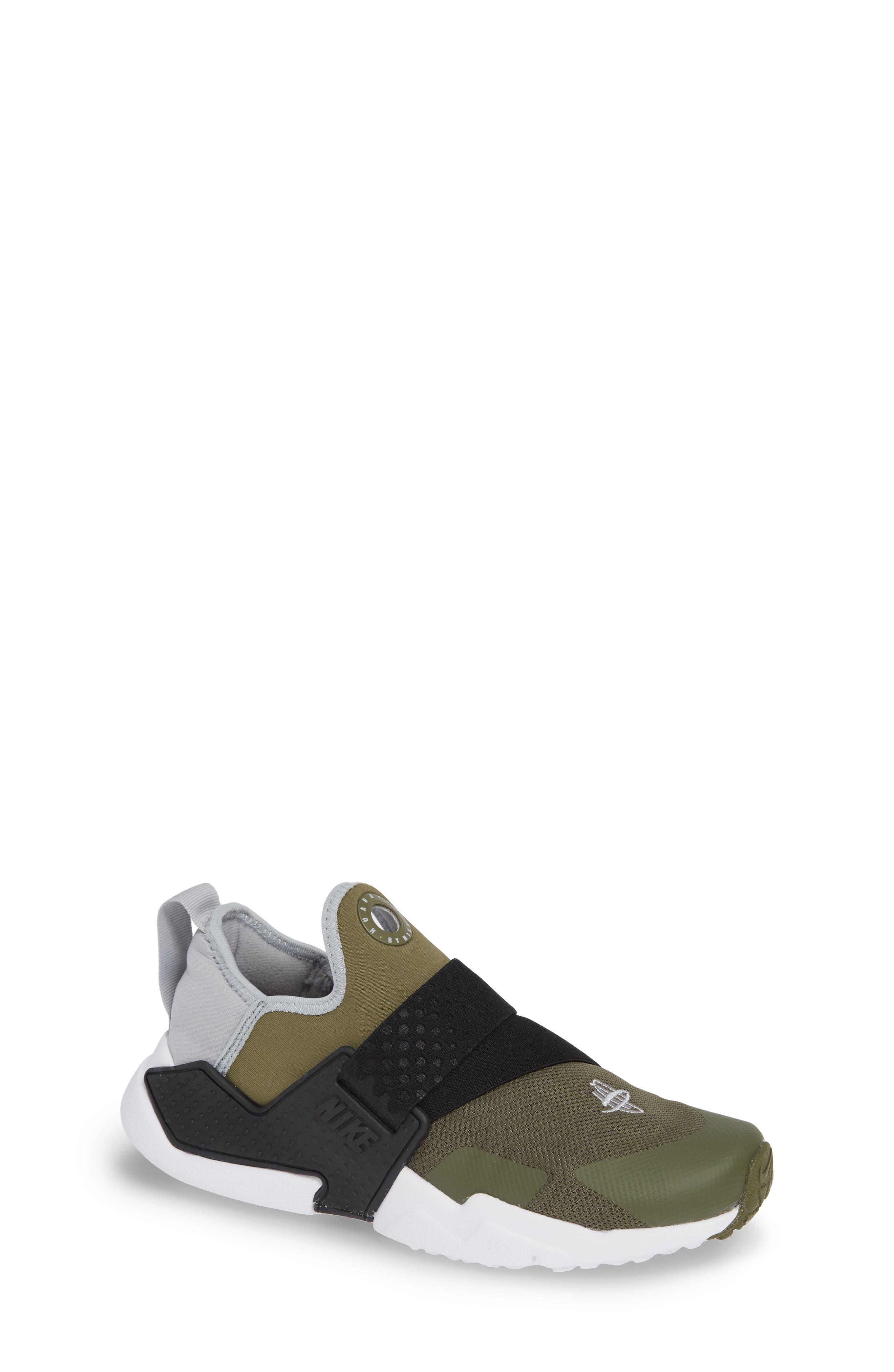 Huarache Extreme Sneaker,                             Main thumbnail 1, color,                             Olive/ Wolf Grey/ Black/ White