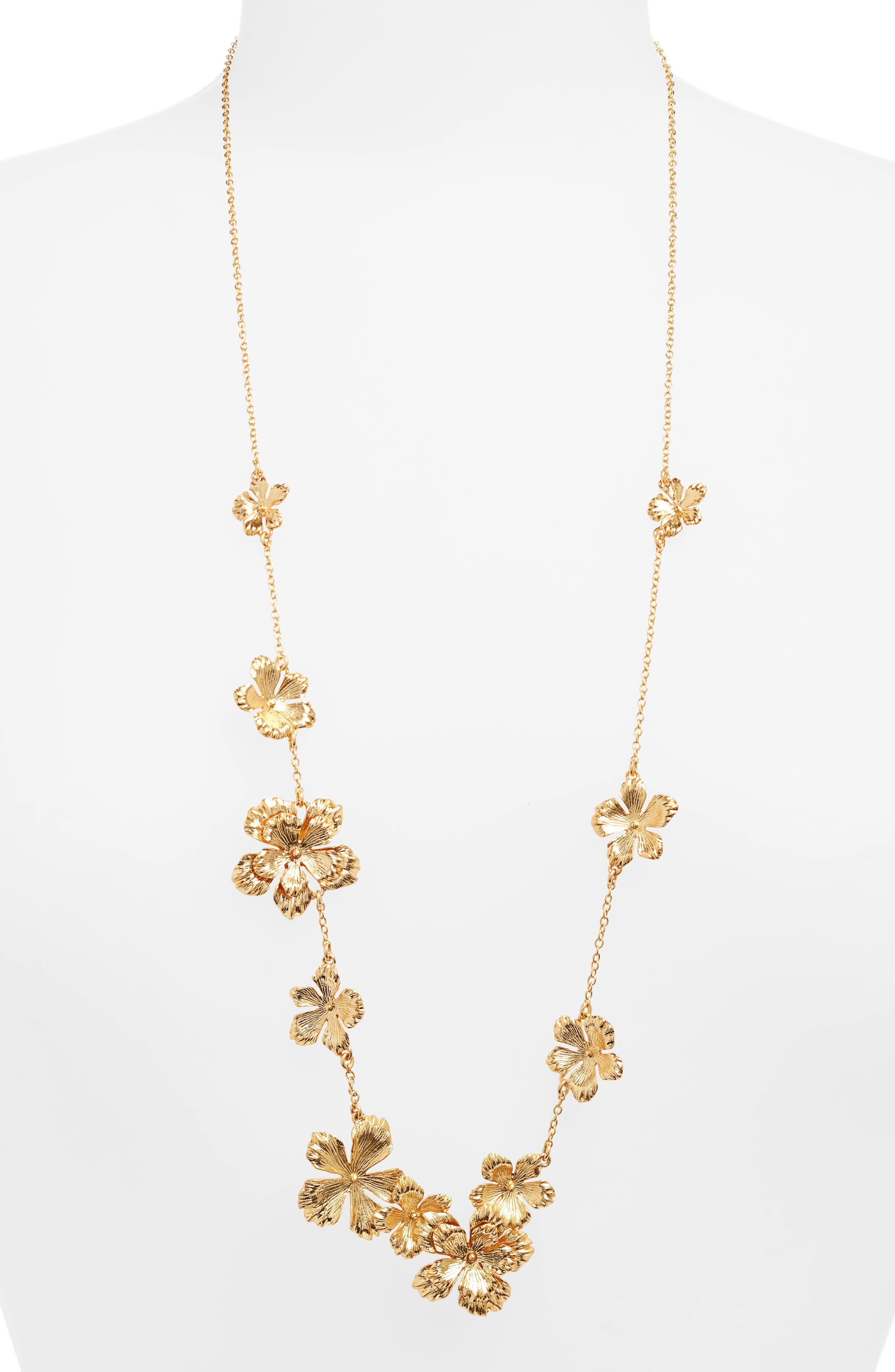 J.CREW PANSY GARLAND NECKLACE
