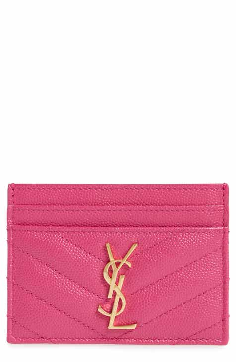 Business card holder nordstrom saint laurent monogram quilted leather credit card case reheart Images