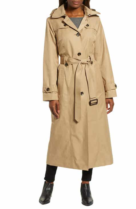 London Fog Jill Long Trench Coat by LONDON FOG