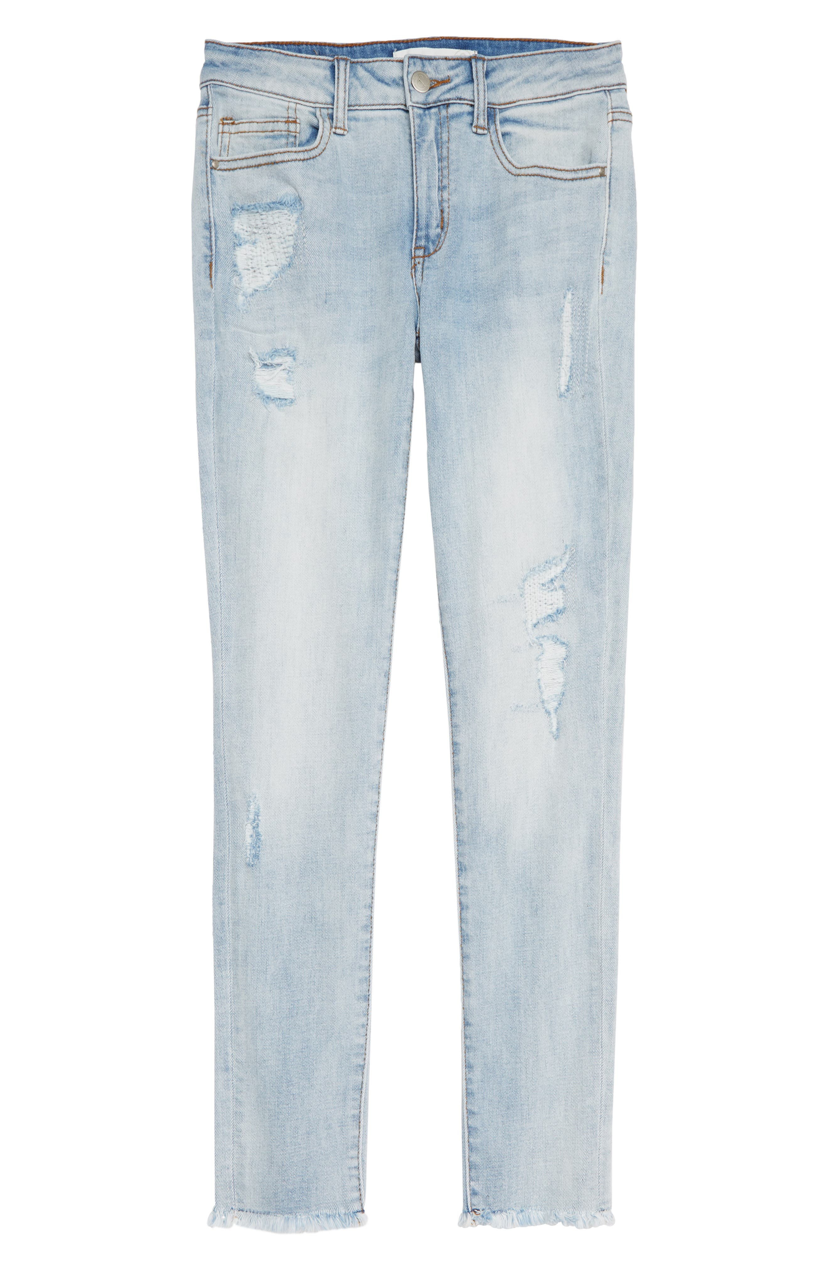 Repaired Girlfriend Jeans,                         Main,                         color, Faded Wash