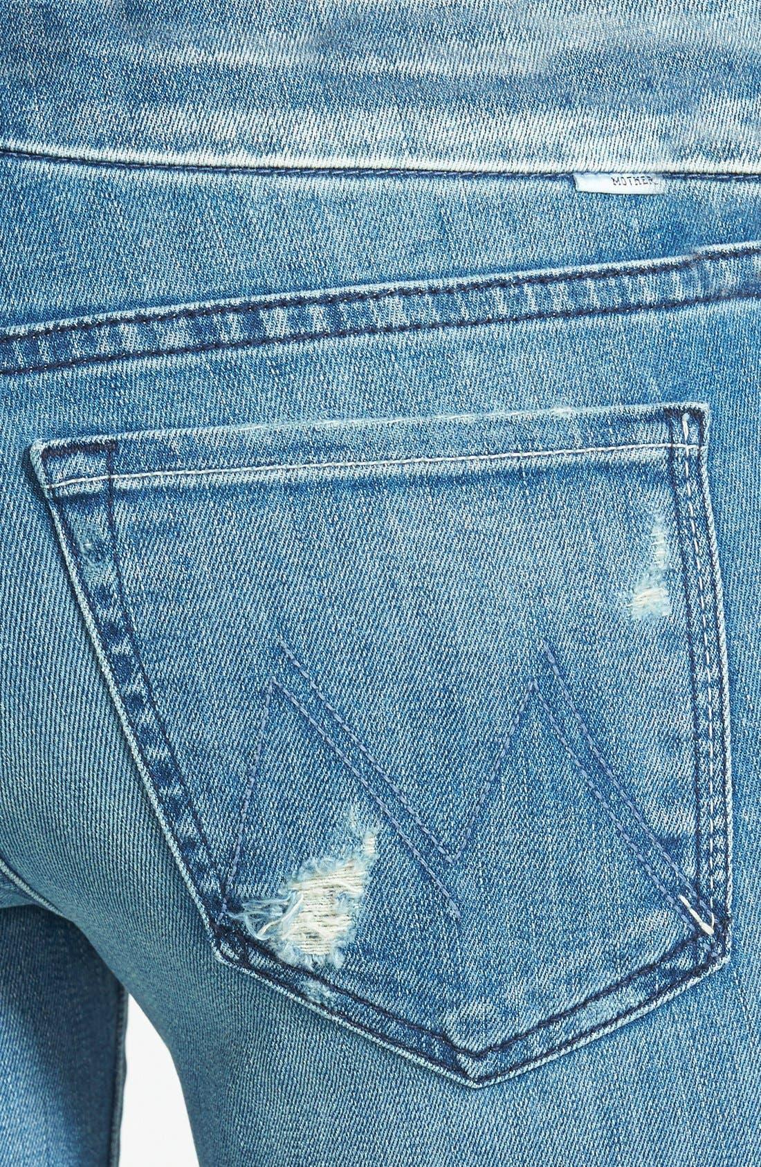 Alternate Image 3  - MOTHER 'The Looker' Skinny Stretch Jeans (Graffiti Girl)