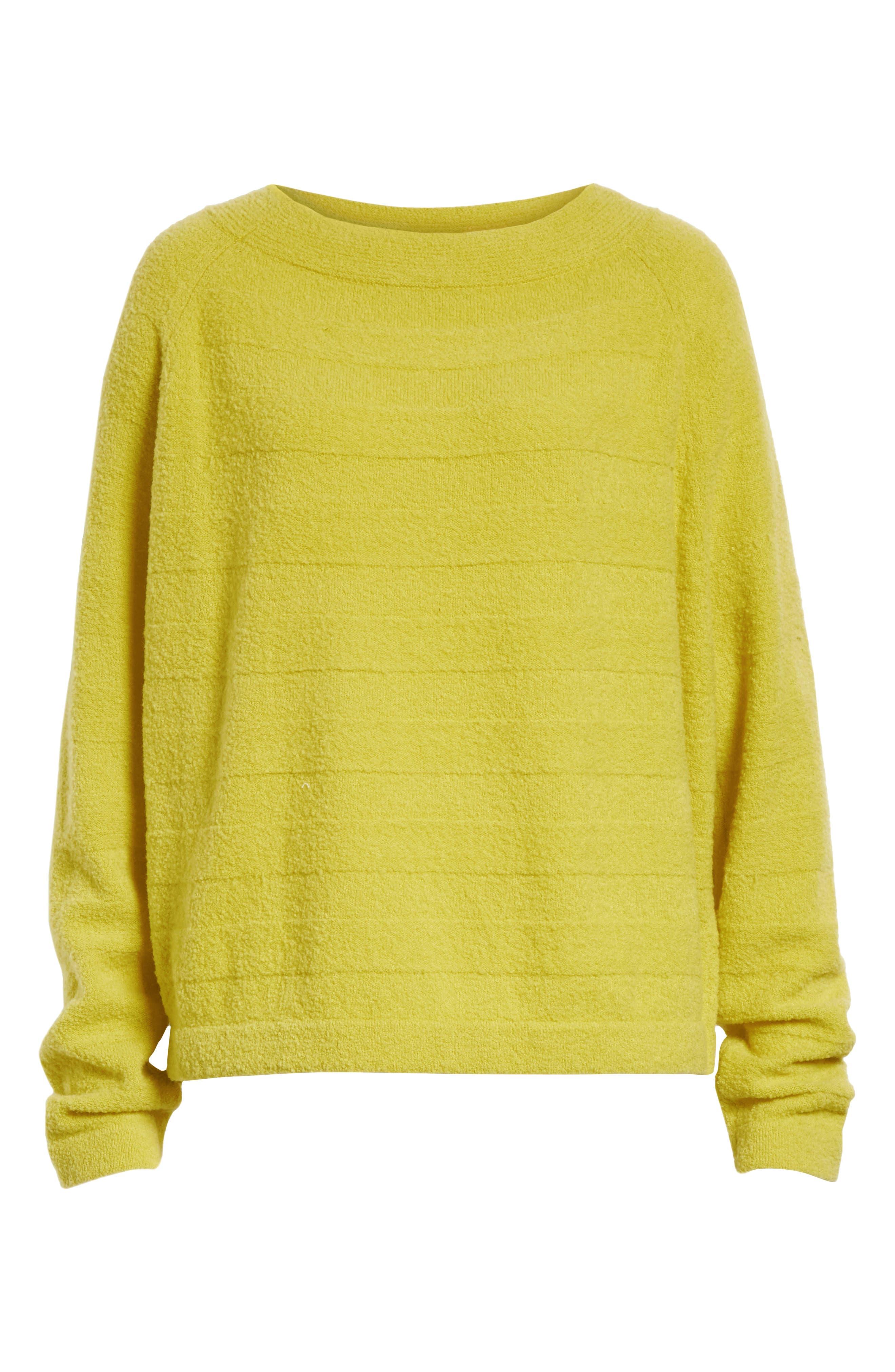 Merino Wool Blend Knit Sweater,                             Alternate thumbnail 6, color,                             Zest
