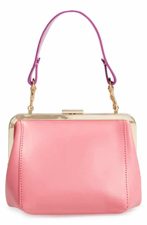 Clare V Le Box Leather Top Handle Bag