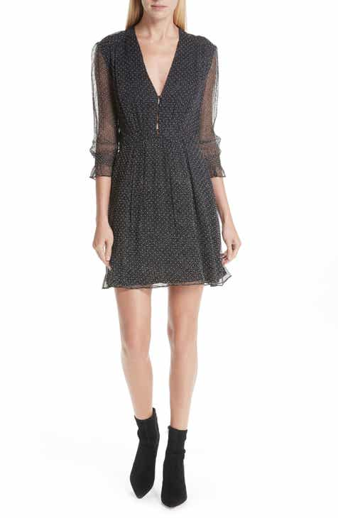 ba&sh Dolly Dotted Silk Blend Mini Dress