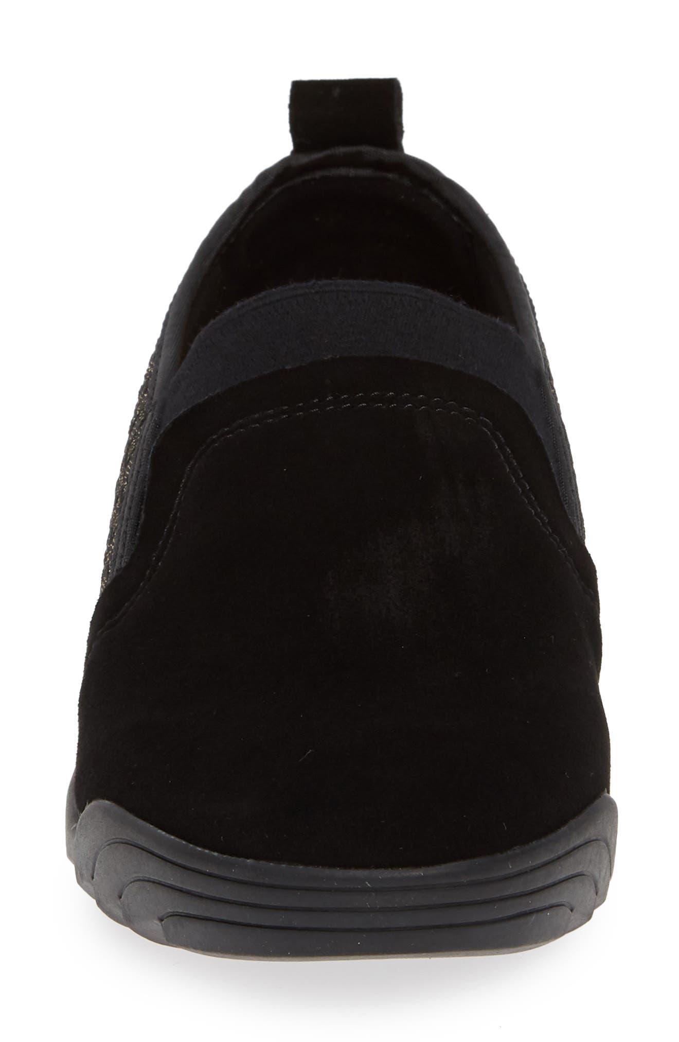 Swift Slip-On Sneaker,                             Alternate thumbnail 6, color,                             Gold Black Shimmer Leather