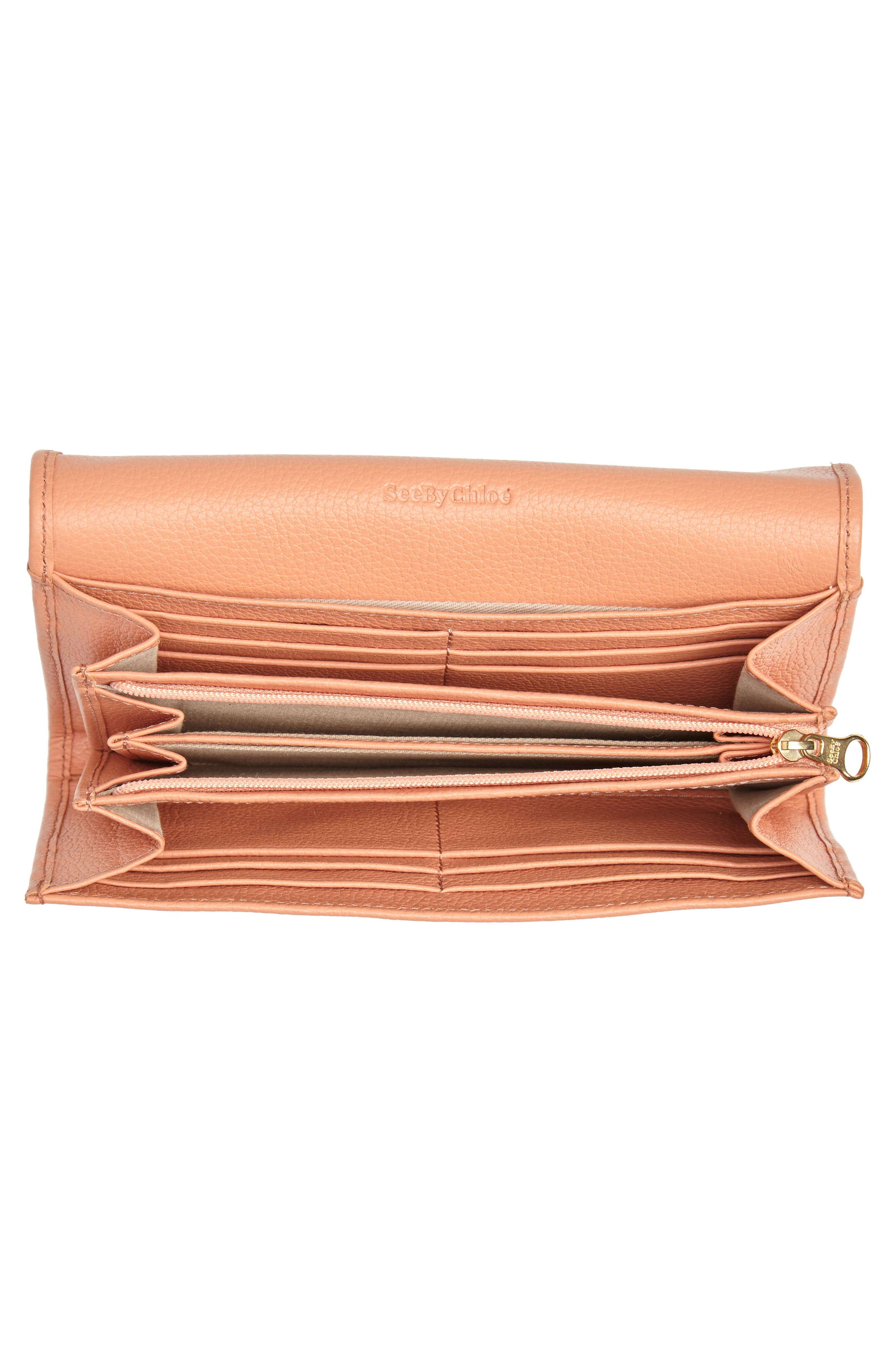 Lizzie Leather Continental Wallet,                             Alternate thumbnail 6, color,                             Canyon Sunset