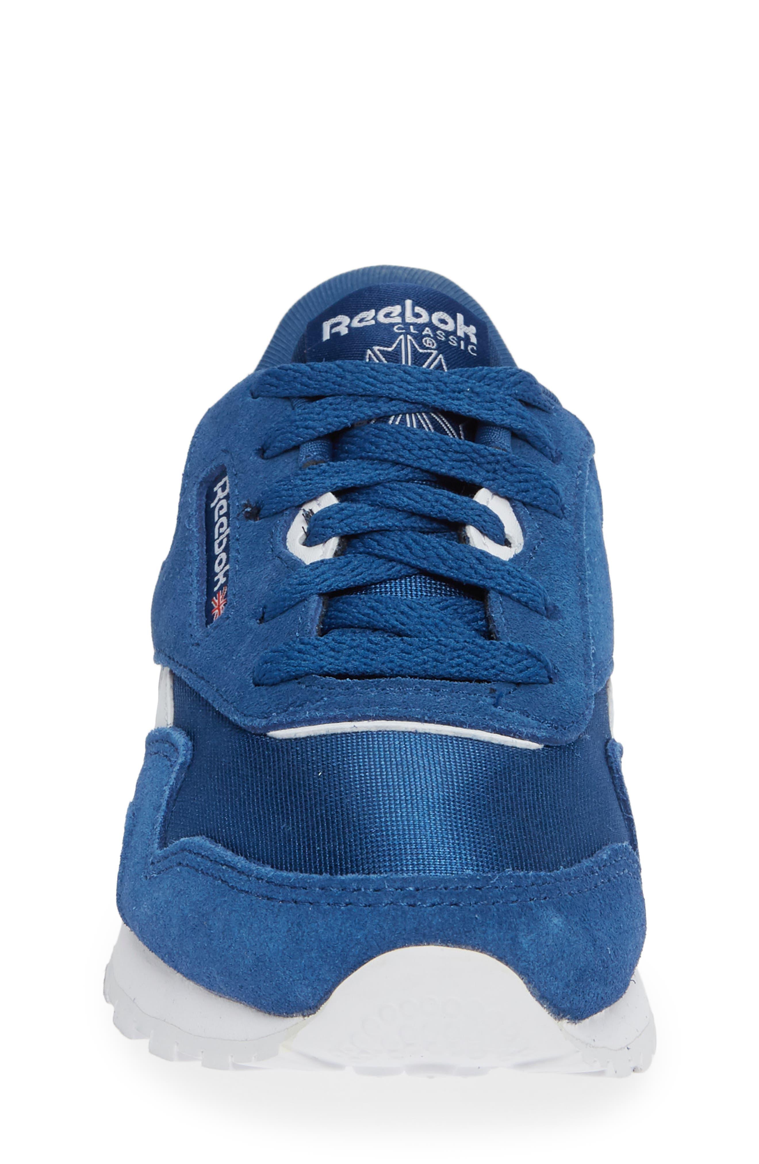Classic Nylon Sneaker,                             Alternate thumbnail 4, color,                             Bunker Blue/ White