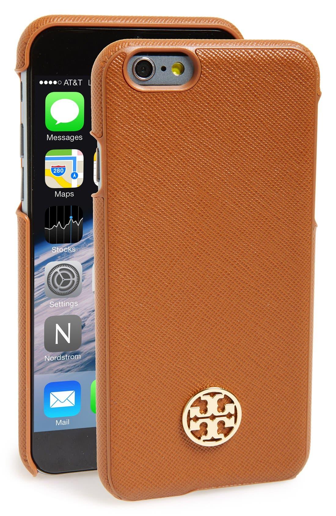 Main Image - Tory Burch 'Robinson' Saffiano Leather iPhone 6 Case