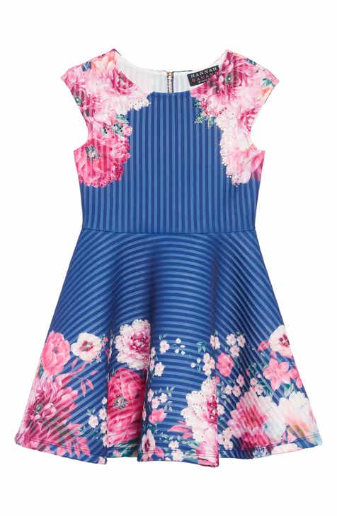 Girls toddler 2 4 years special occasions clothing accessories hannah banana stripe scuba dress toddler girls little girls big girls mightylinksfo