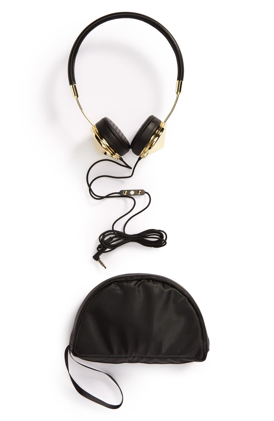 with Benefits 'Layla' Headphones,                             Alternate thumbnail 2, color,                             Gold/ Black
