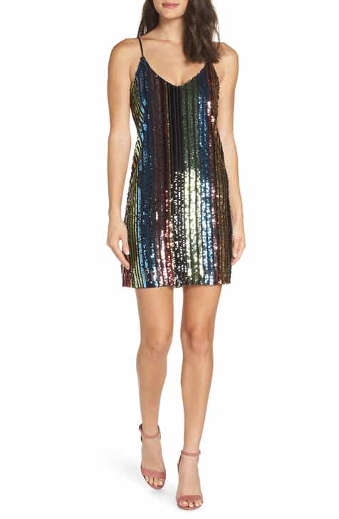 Forest Lily Sequin Stripe Slipdress by FOREST LILY