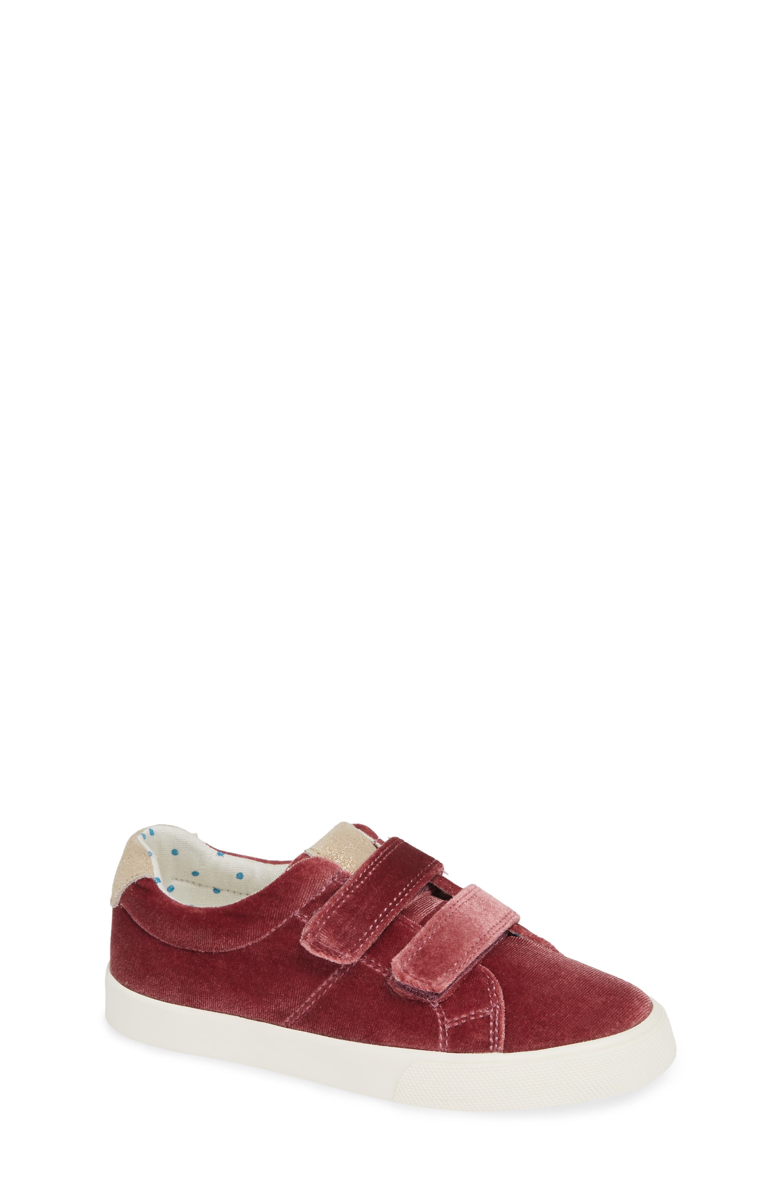 Mini Boden Fun Low Top Sneaker,                         Main,                         color, Deep Berry