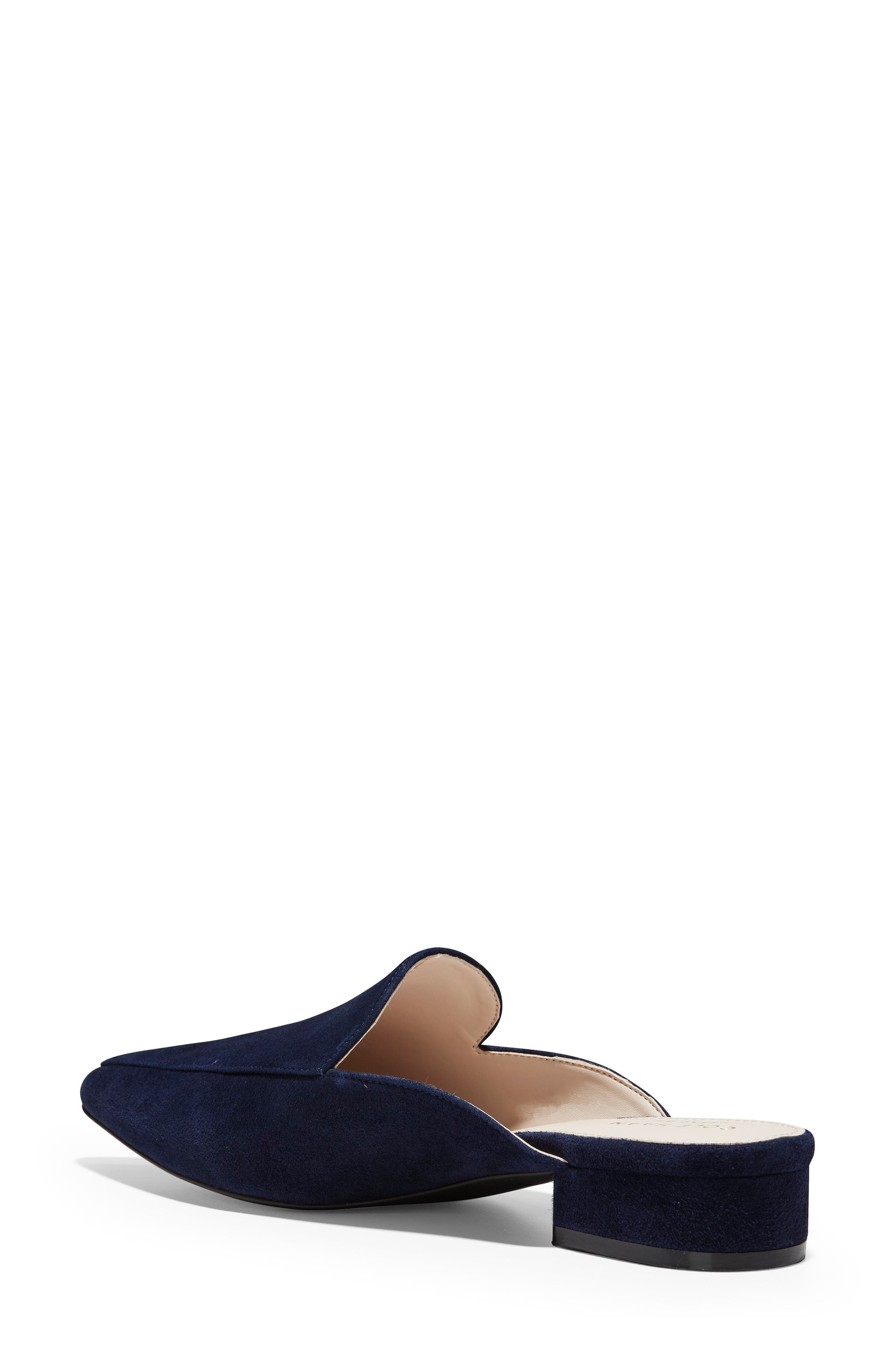 Piper Loafer Mule,                             Alternate thumbnail 2, color,                             Marine Blue Suede