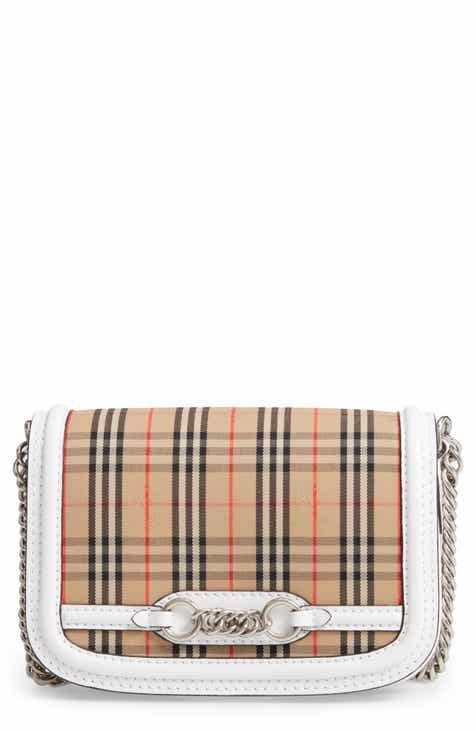 b619eb272cb6 Burberry Vintage Check Link Flap Crossbody Bag