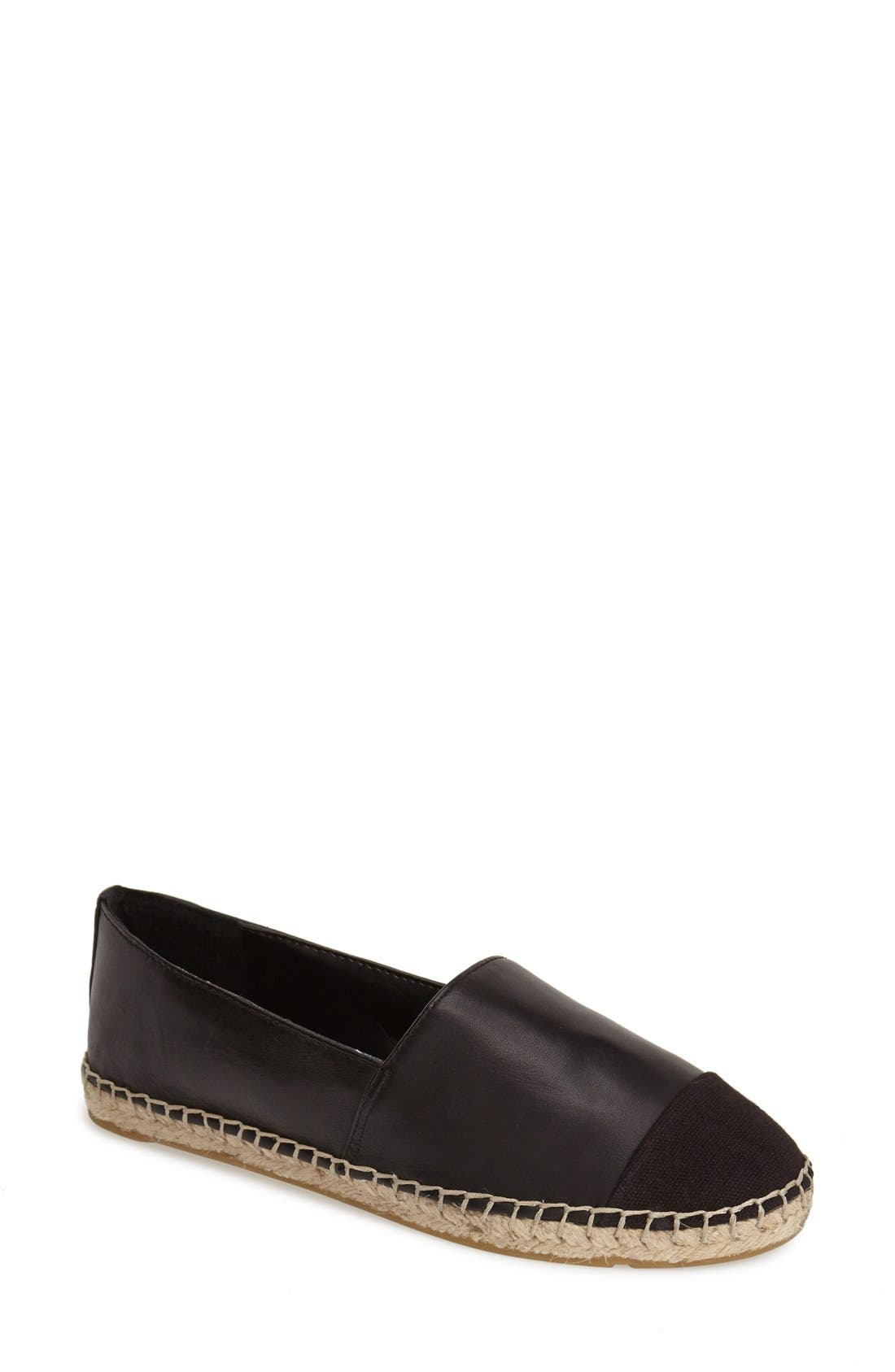 Main Image - Vince Camuto 'Dally' Leather Espadrille Flat (Women)
