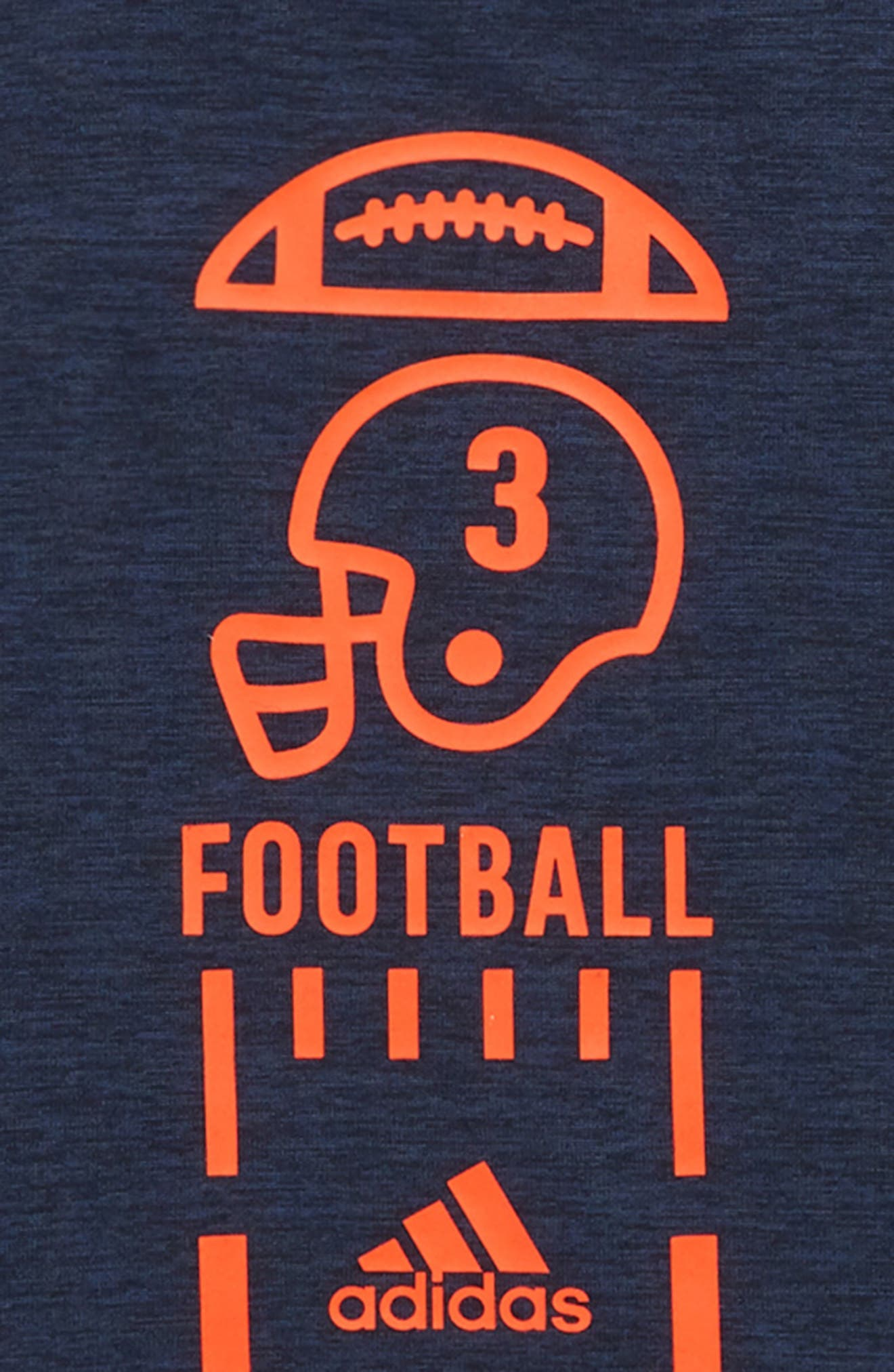 Football Vertical Collage T-Shirt,                             Alternate thumbnail 2, color,                             Navy