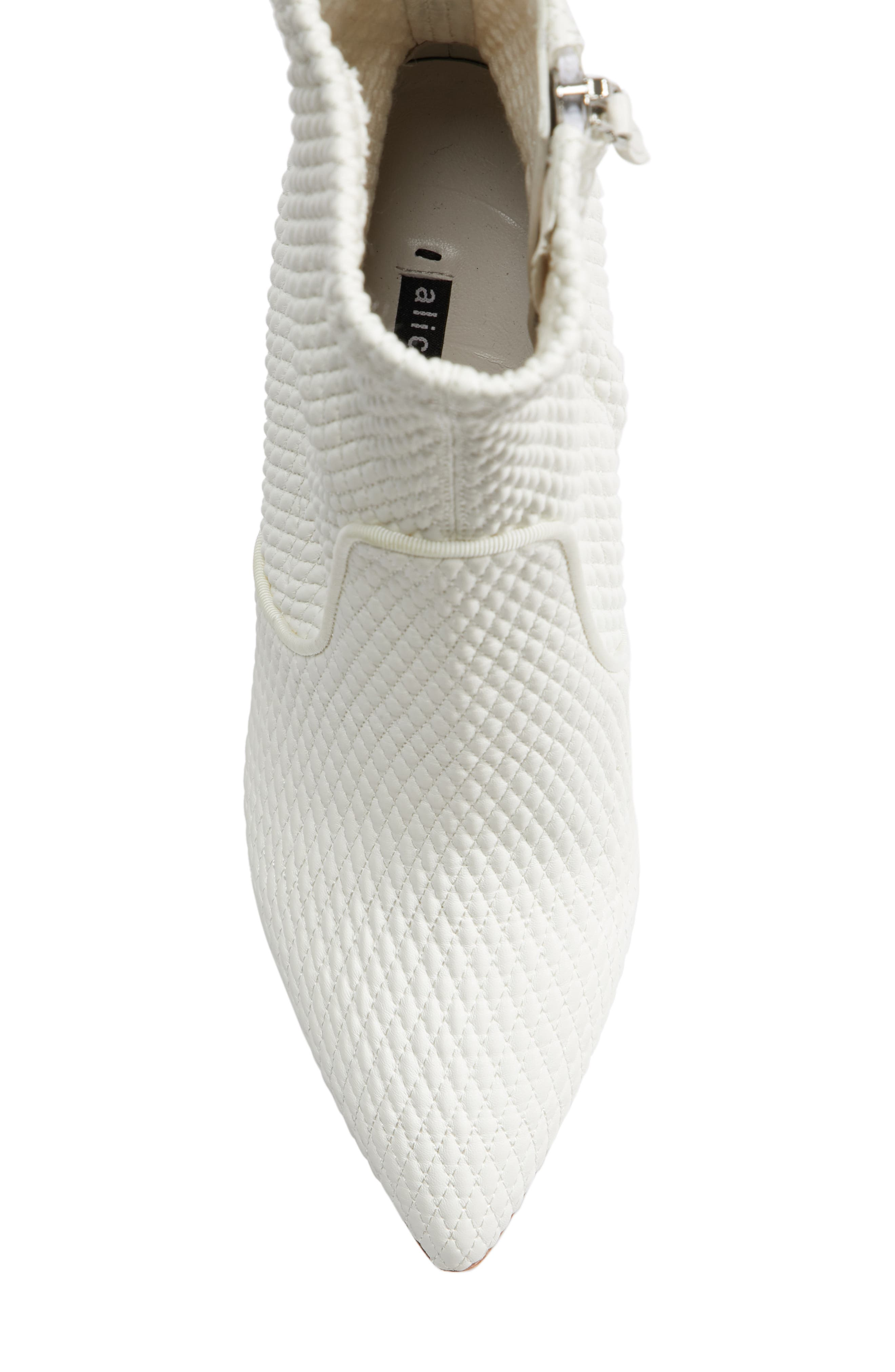 Hedde Pointy Toe Bootie,                             Alternate thumbnail 4, color,                             White