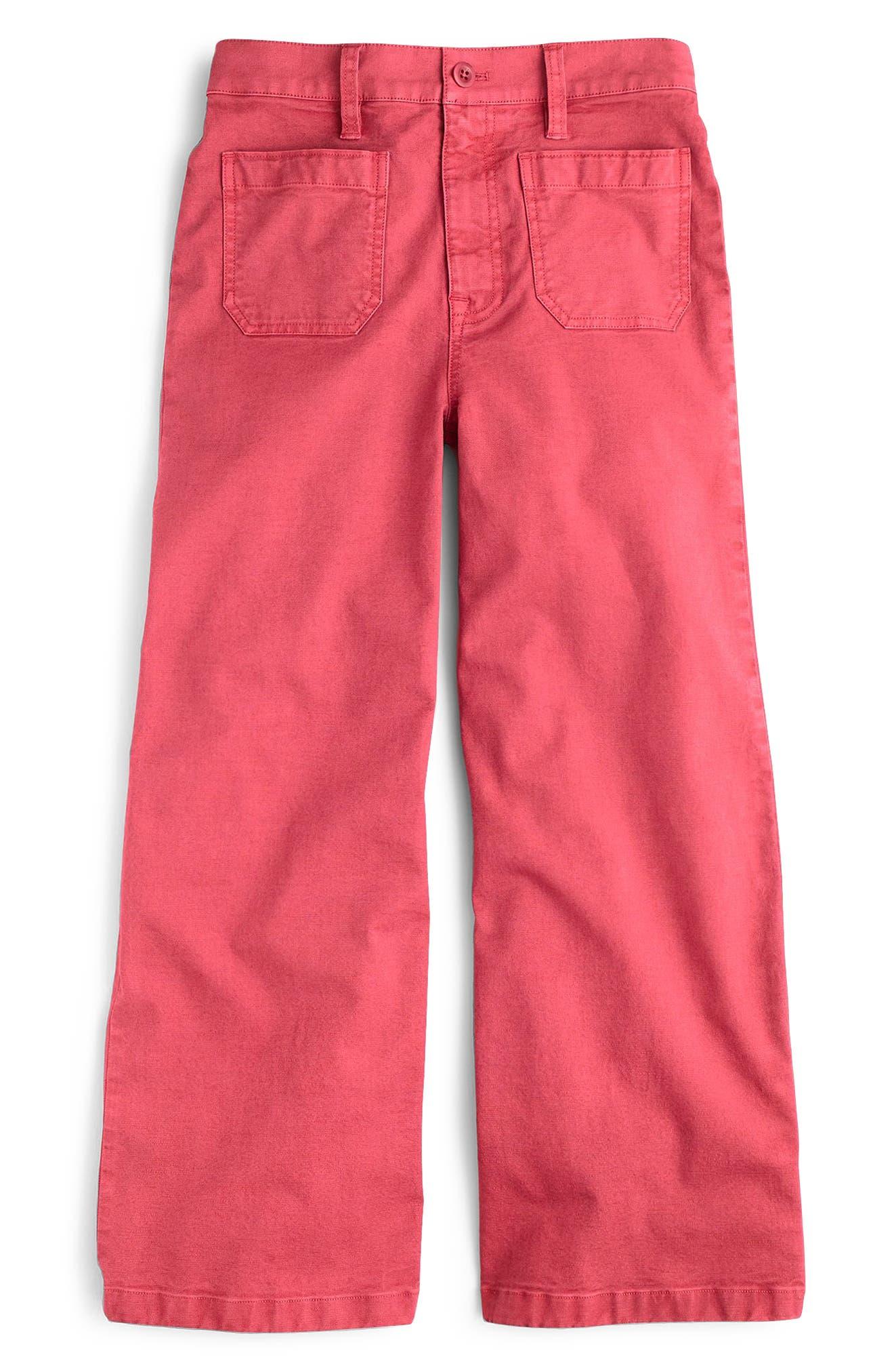 Point Sur Washed Wide Leg Crop Pants,                             Alternate thumbnail 5, color,                             Vintage Rose